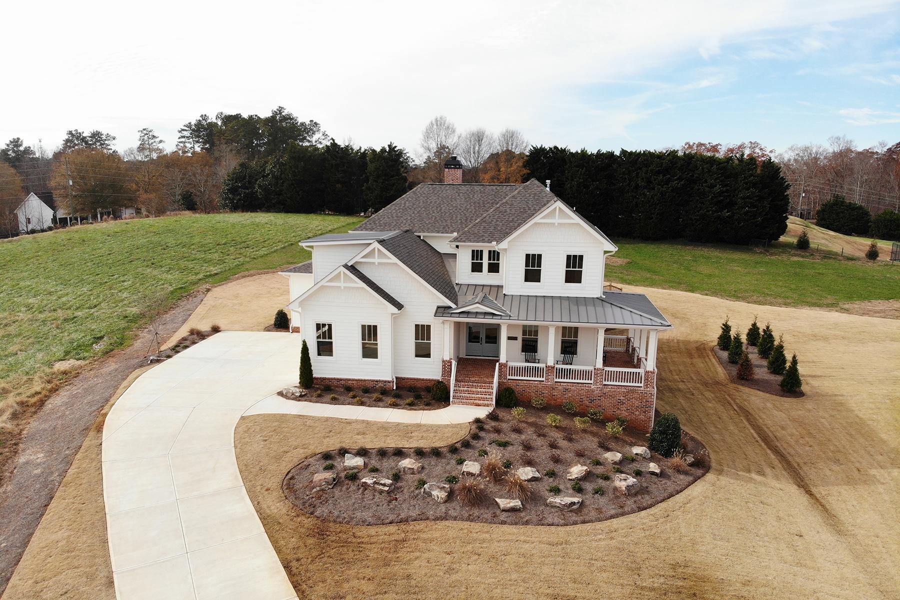 Single Family Home for Sale at New Farmhouse Style Home In Ebenezer Pond 12700 Ebenezer Pond Ct Milton, Georgia 30004 United States