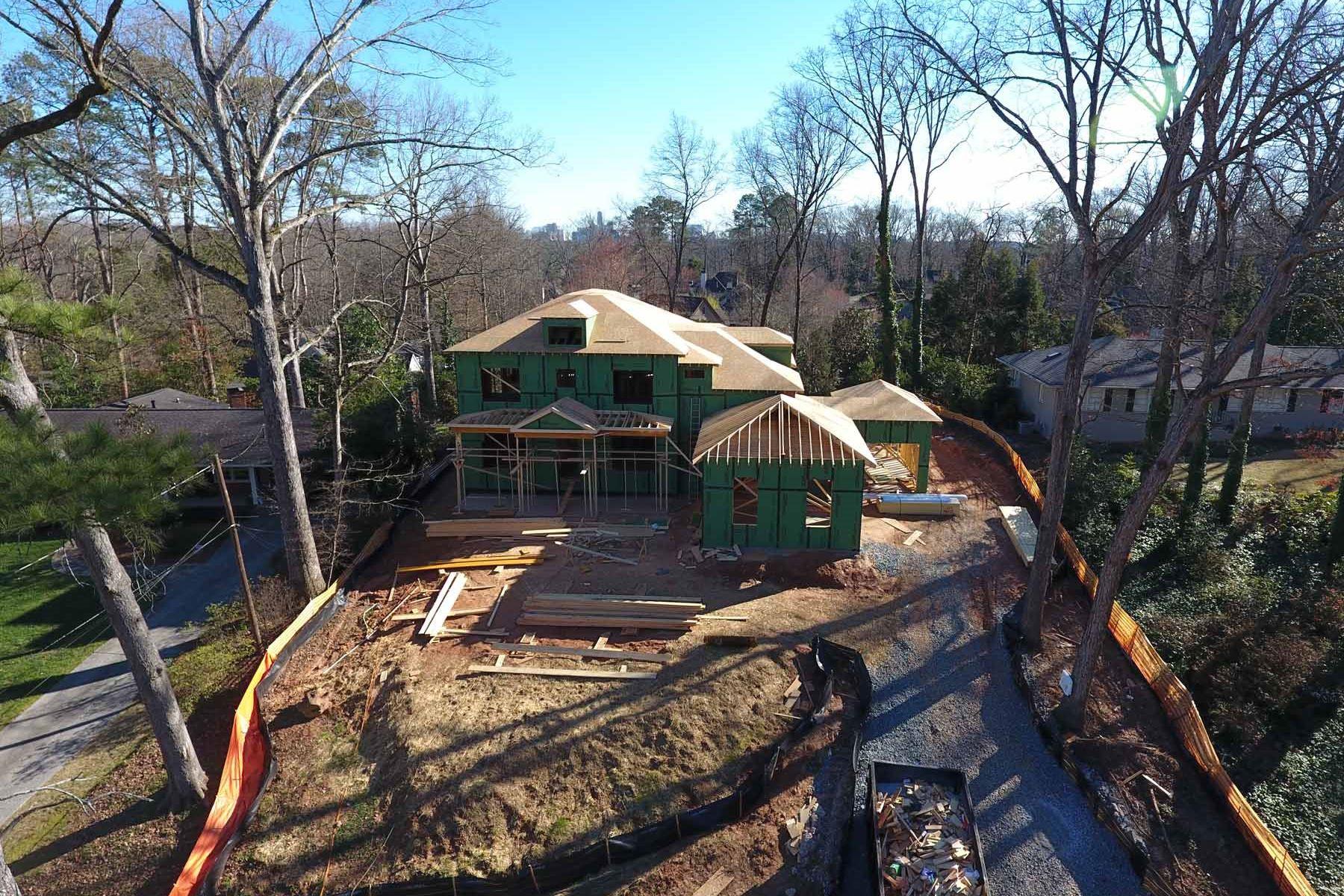 Maison unifamiliale pour l Vente à New Construction 375 Highbrook Drive Sandy Springs, Georgia, 30342 États-Unis
