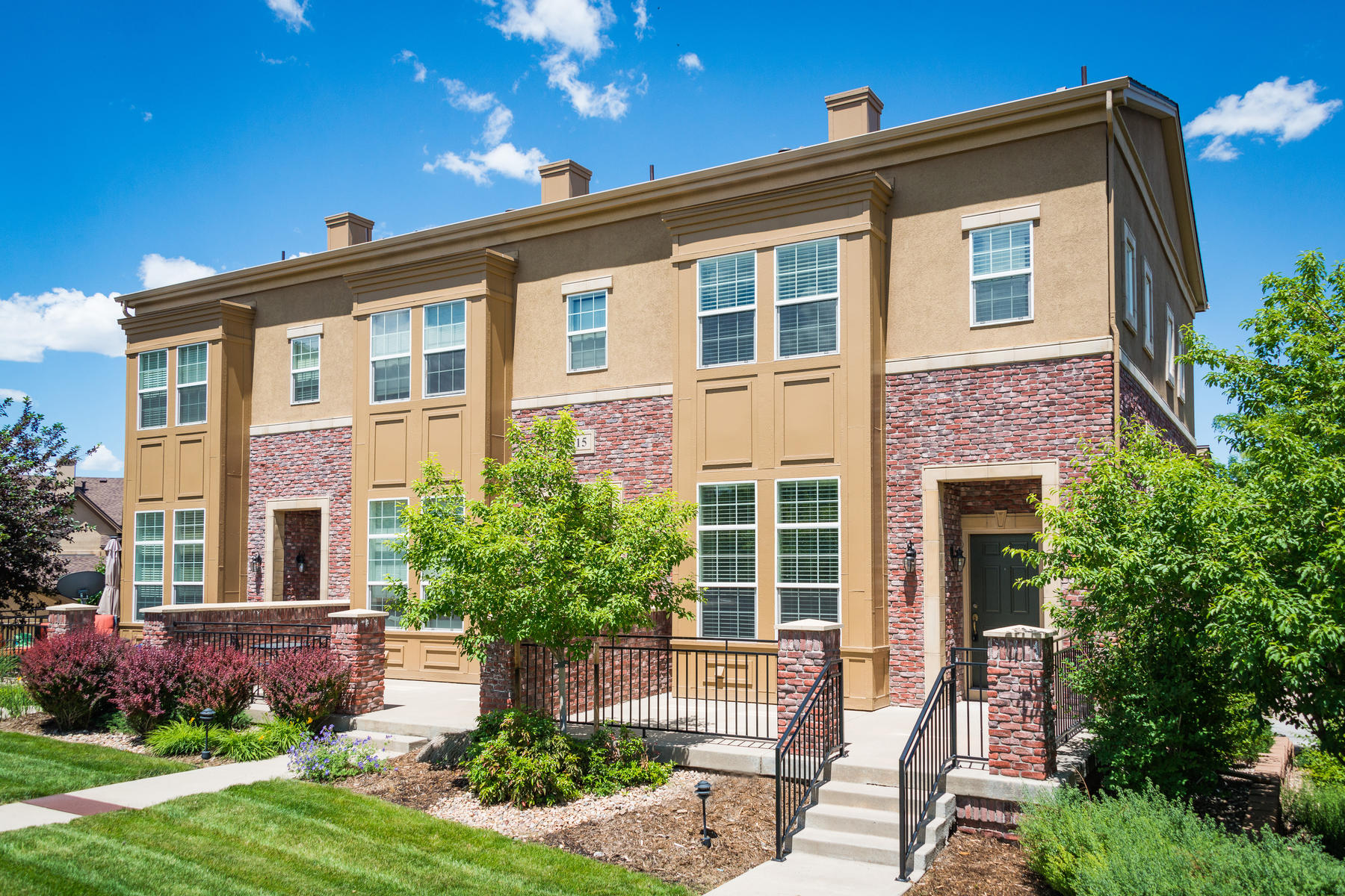 Condominiums for Sale at Rare End Unit Townhome at the Brownstones 515 Elmhurst Way Unit #C Highlands Ranch, Colorado 80129 United States