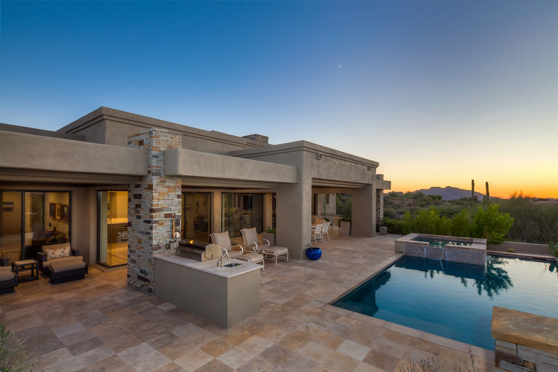 Single Family Home for Sale at Charming contemporary home in Gambel Quail 9420 E Sundance Trl, Scottsdale, Arizona, 85262 United States