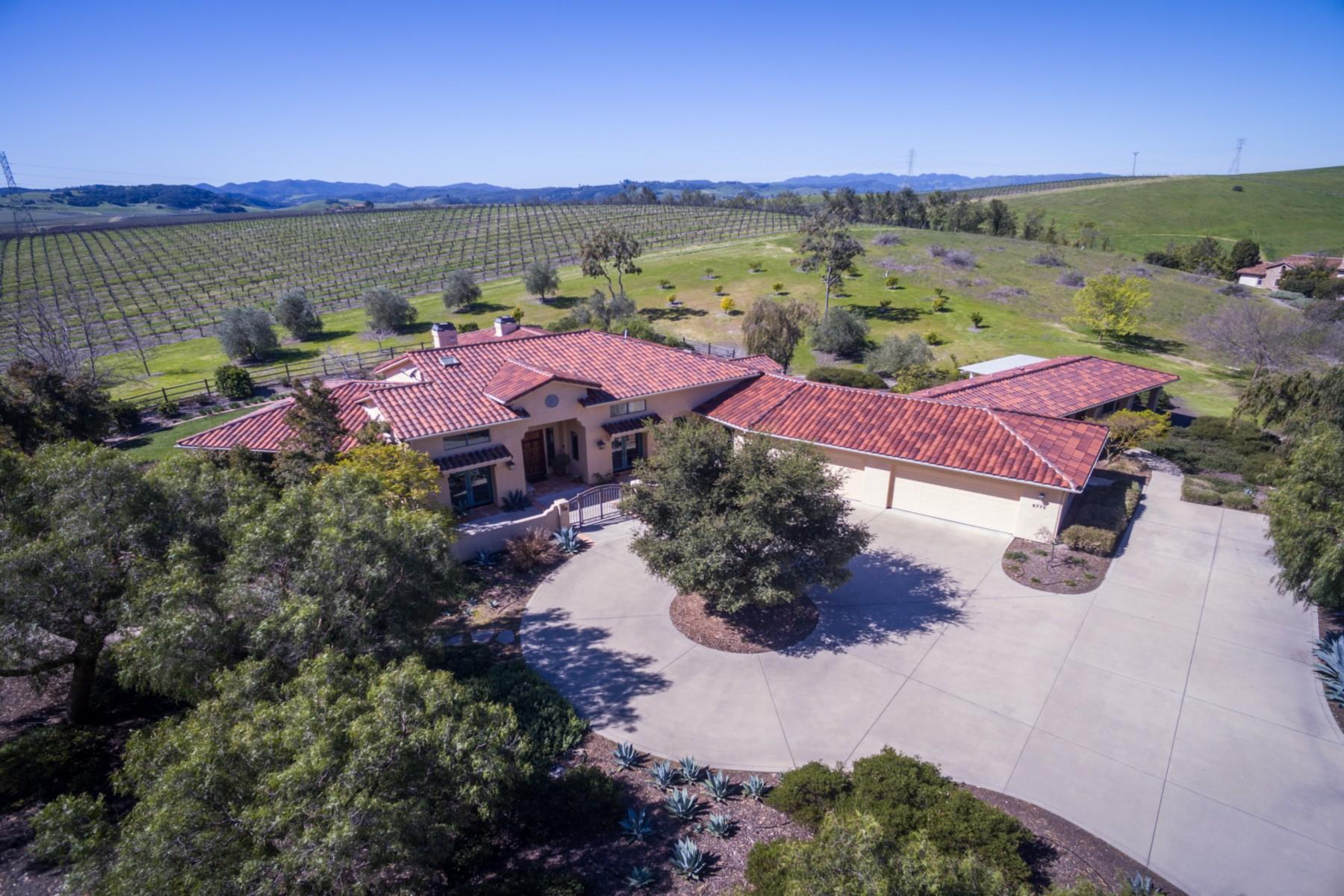 Casa para uma família para Venda às Wine Country Estate 6775 Calle Stornetta San Luis Obispo, Califórnia, 93401 Estados Unidos