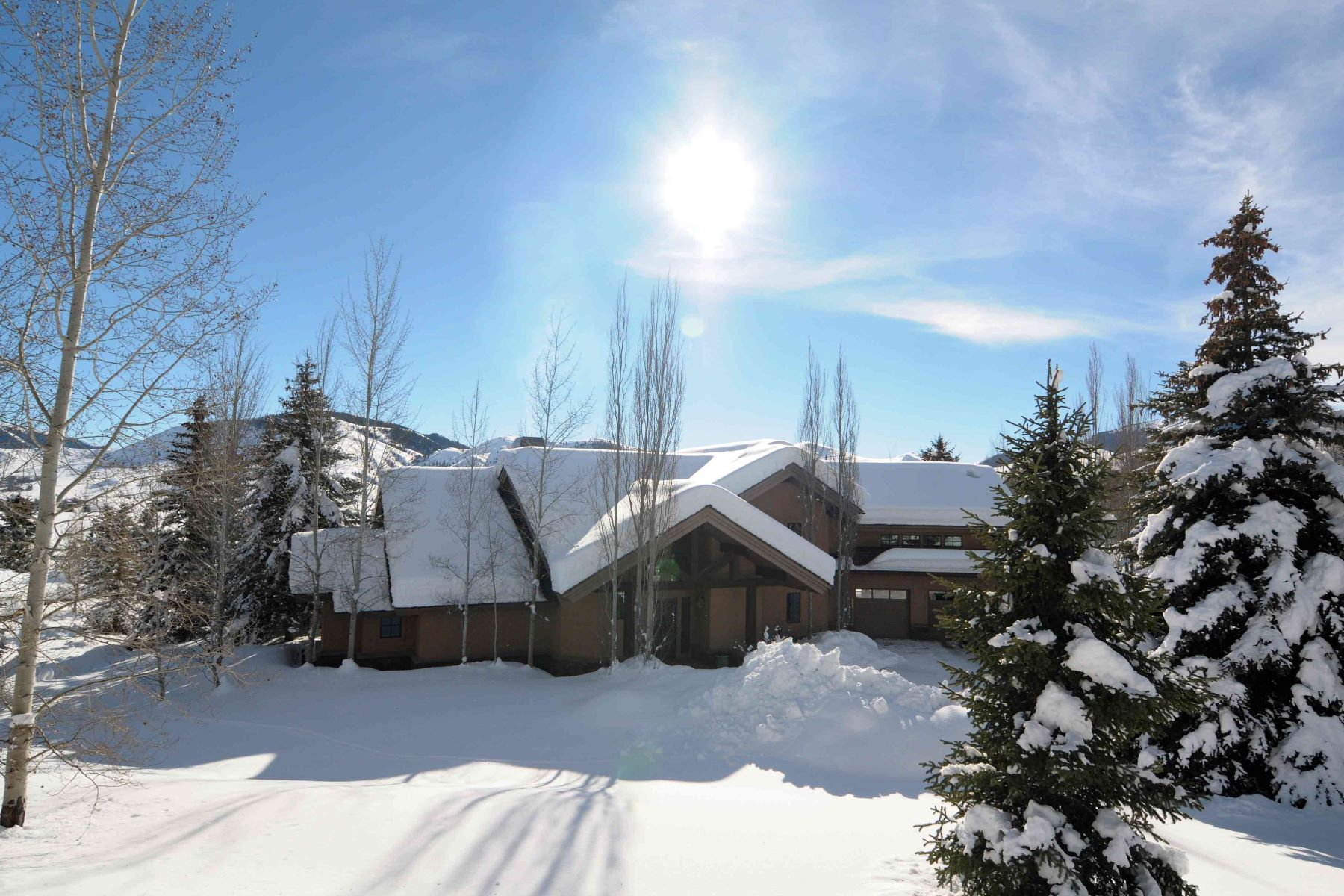 Maison unifamiliale pour l Vente à Stunning Panoramic Views 113 Sagewillow Road Sun Valley, Idaho 83353 États-Unis