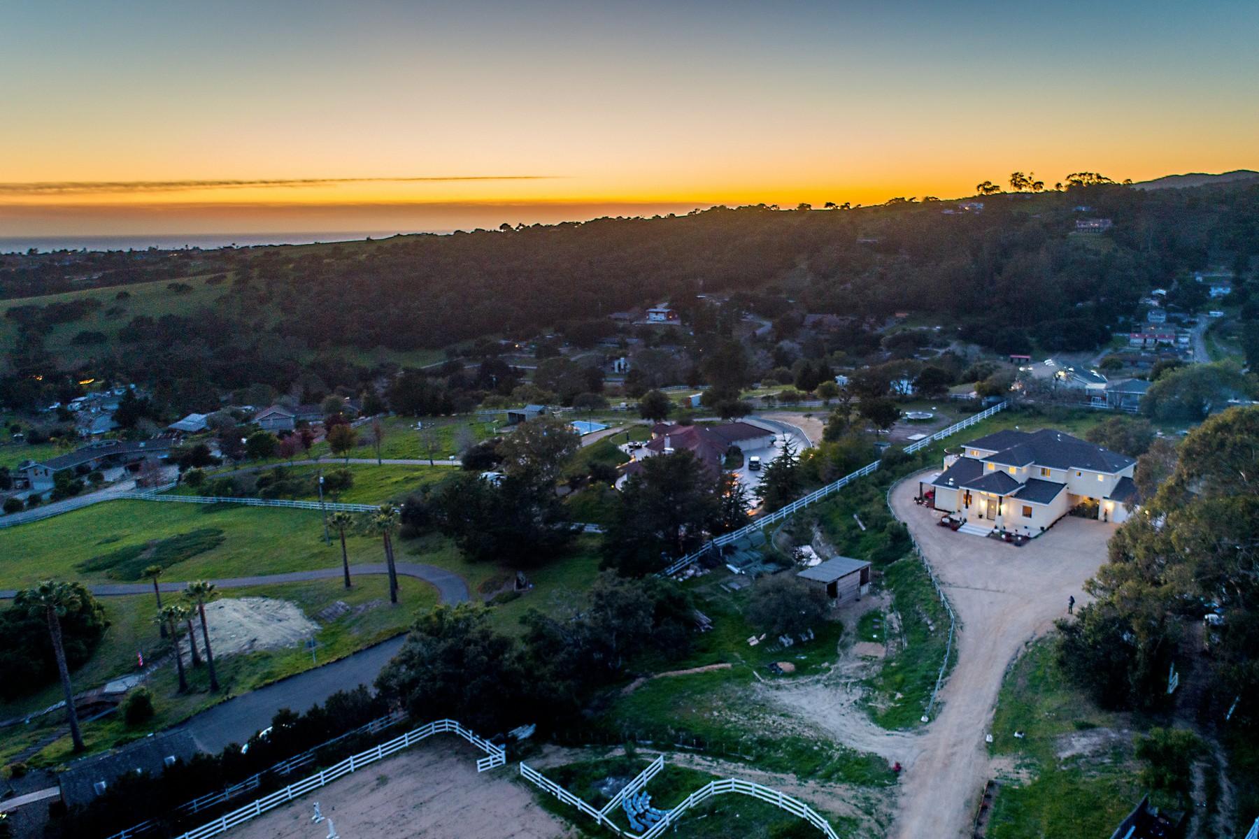 Single Family Homes for Sale at Coastal Equestrian Escape 270 Sunray Place Arroyo Grande, California 93420 United States