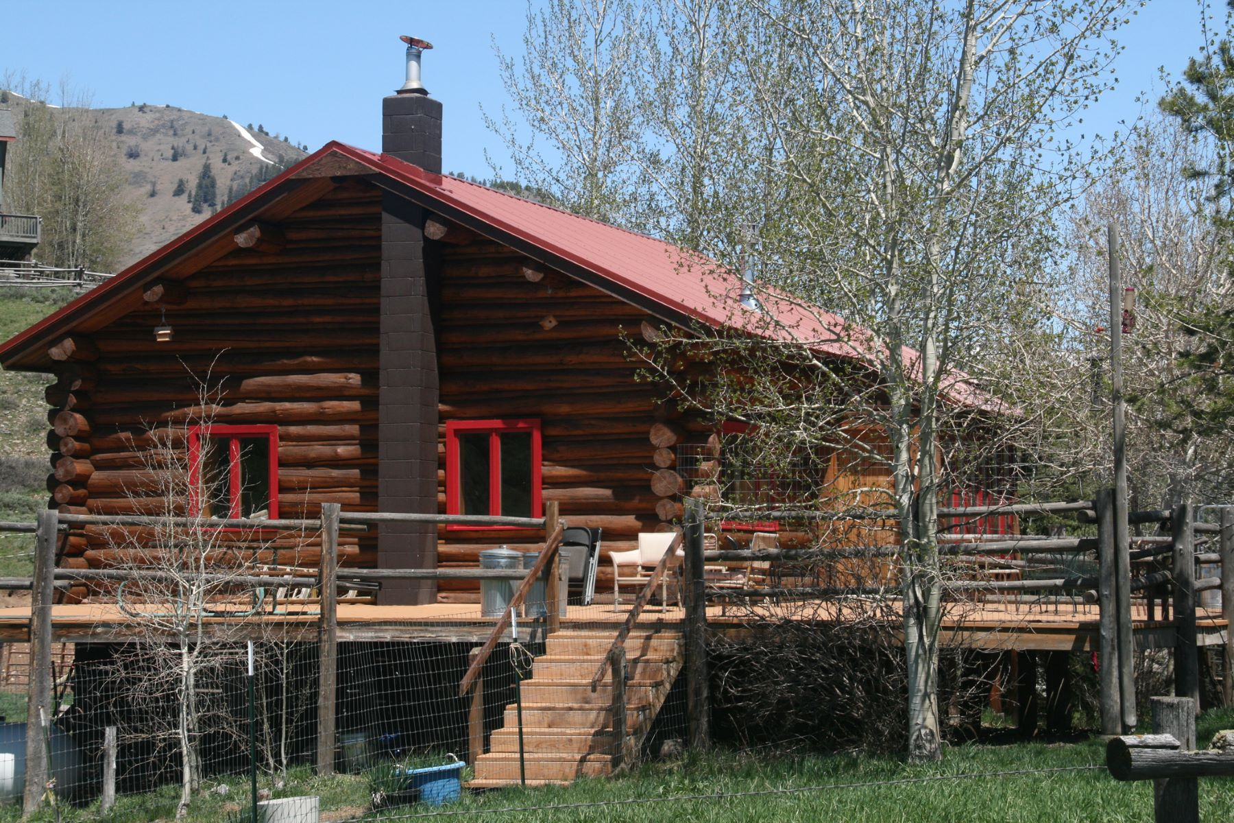 Single Family Home for Sale at Game Creek Log Home 6825 S SQUAW CREEK ROAD, Jackson, Wyoming, 83001 Jackson Hole, United States