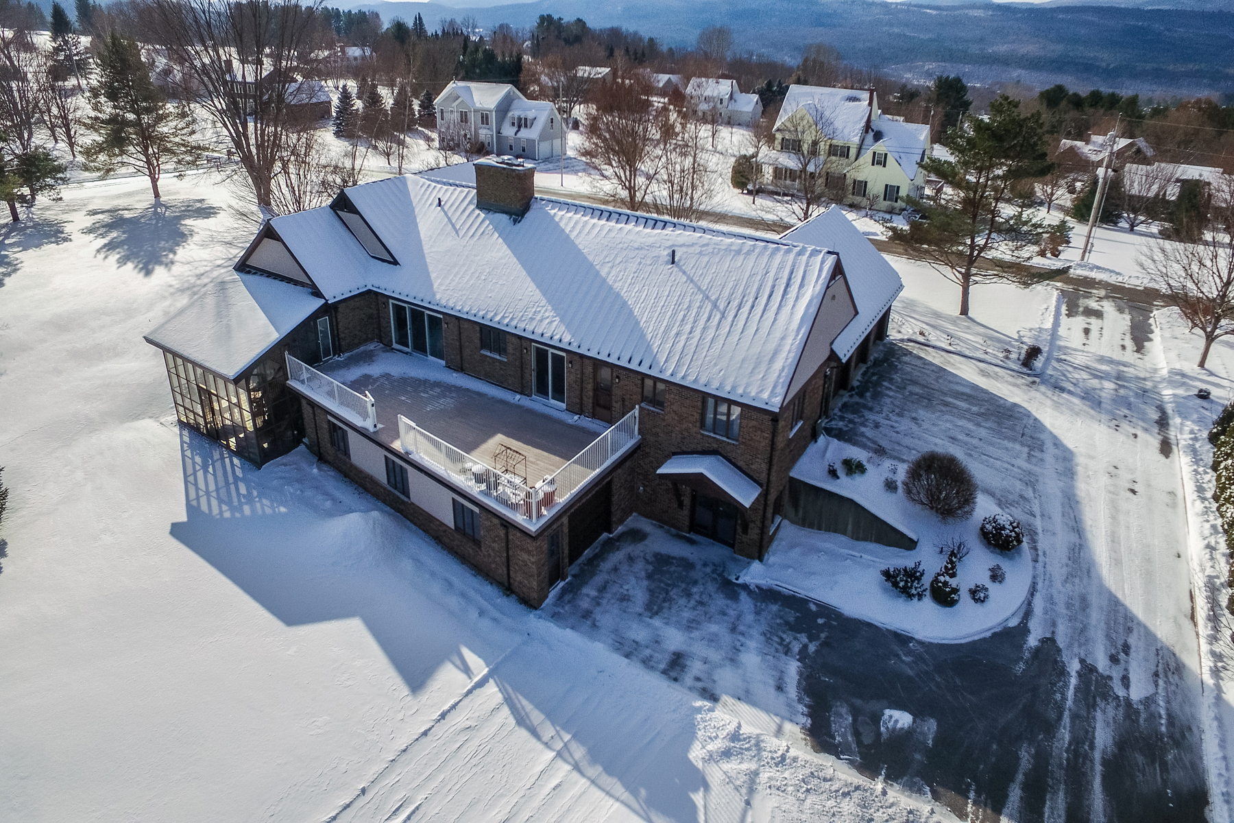 Single Family Homes for Sale at Custom Brick Home-Double Lot-Impressive Views 462 Orchard Hill Road Pittsford, Vermont 05763 United States