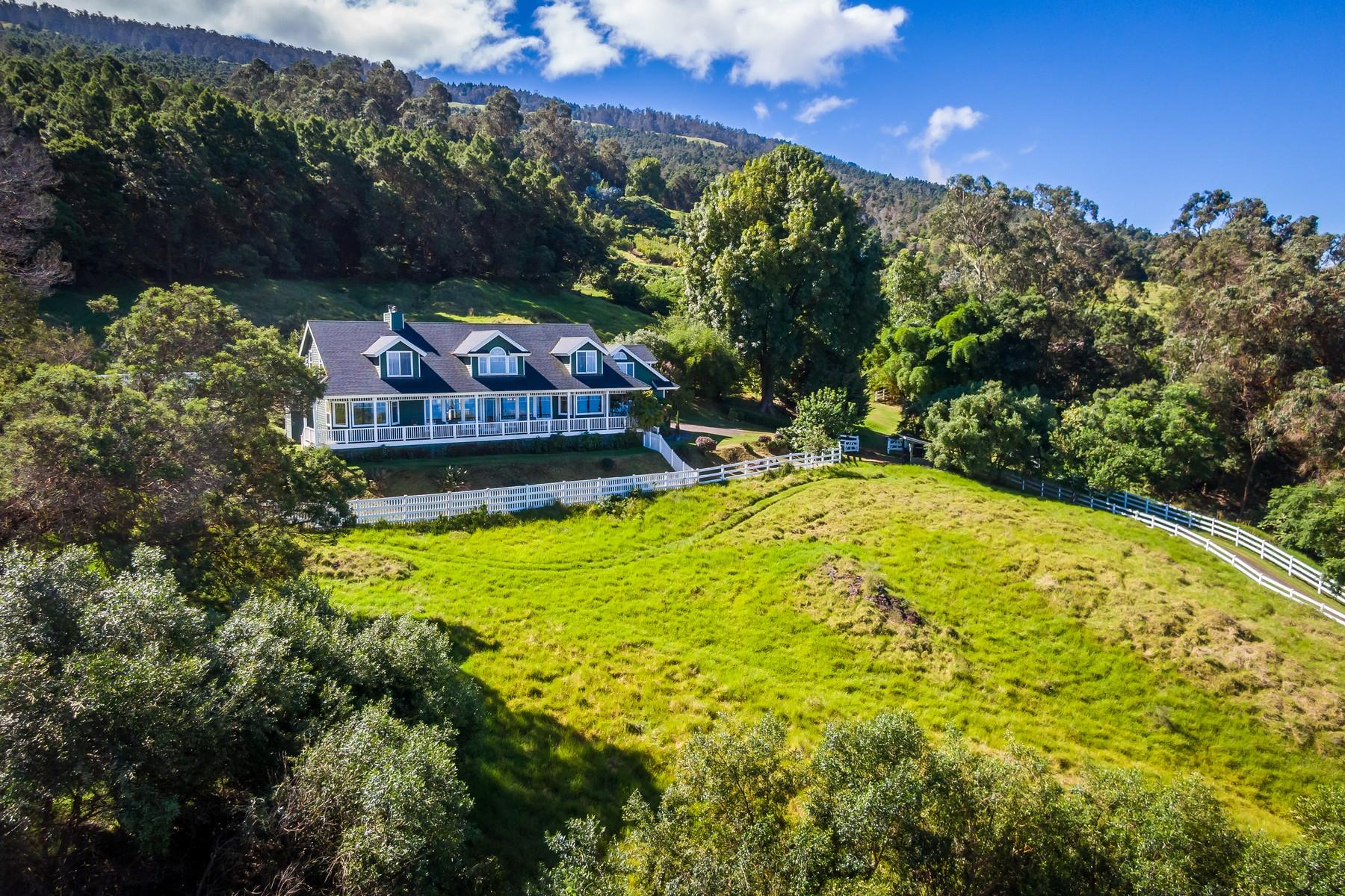 獨棟家庭住宅 為 出售 在 Secluded & Serene, Large Custom Kula Home with Bi-Coastal Views 1511 Polipoli Road Kula, 夏威夷 96790 美國