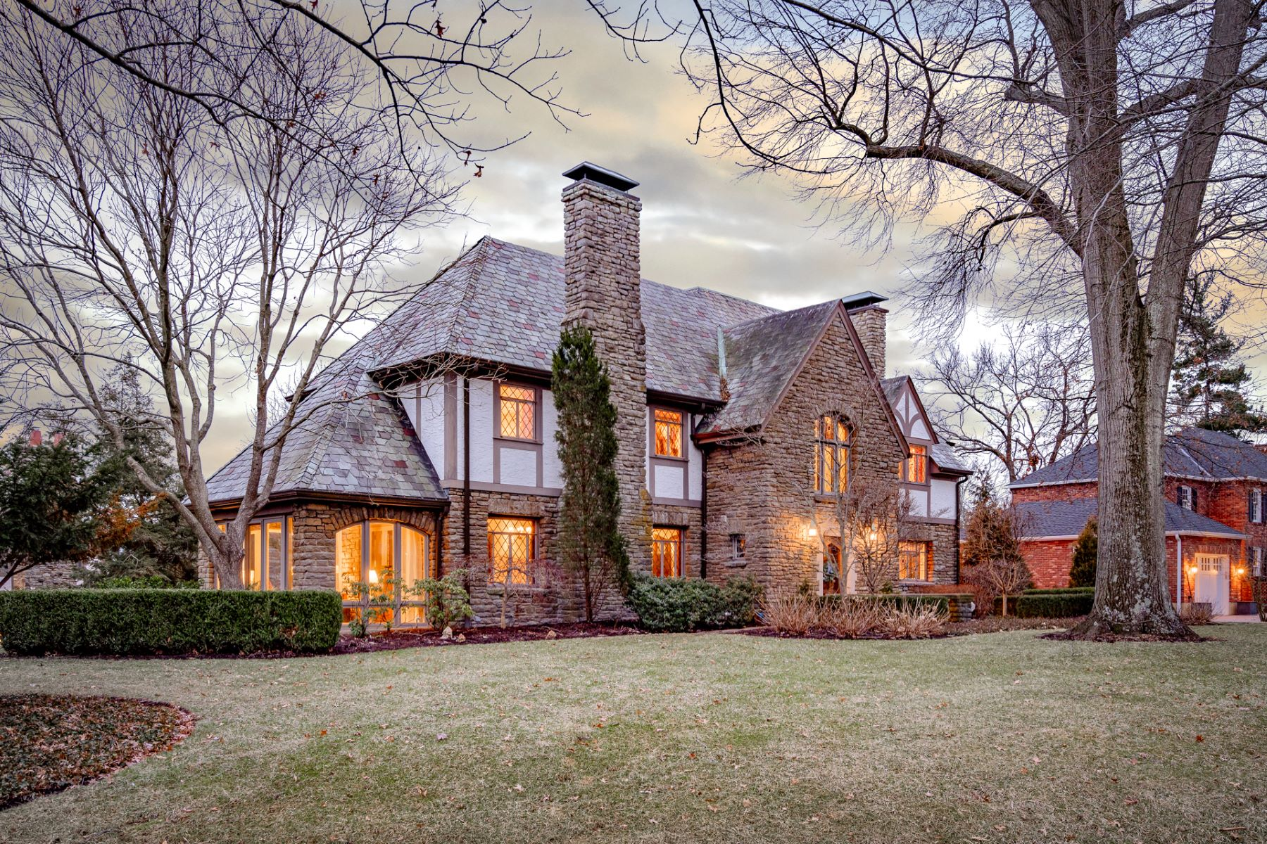 Single Family Homes for Sale at The charm and character of a Tudor with the benefits of a smart home 1120 East Rookwood Drive Cincinnati, Ohio 45208 United States