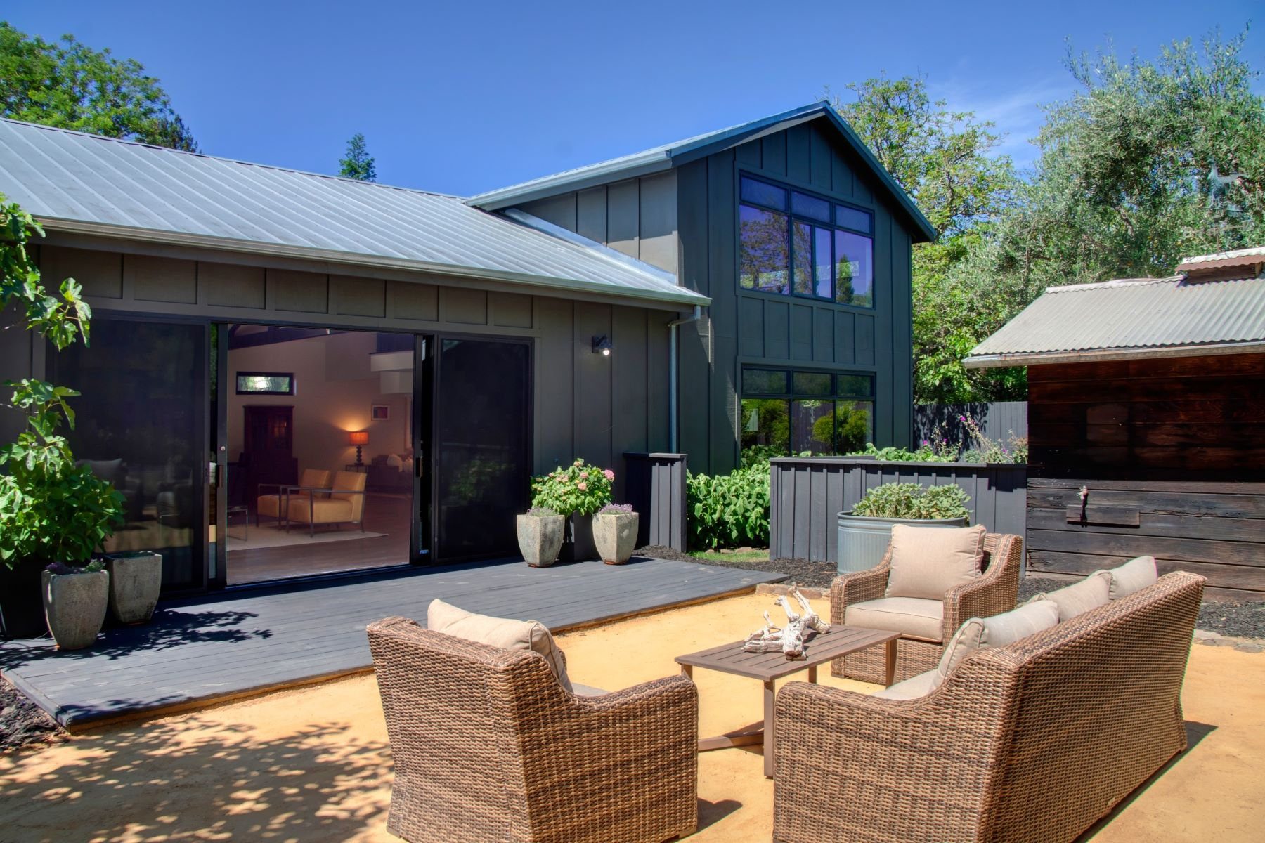 Single Family Homes for Sale at Napa Valley Modern Barn 1581 Centennial Circle Calistoga, California 94515 United States
