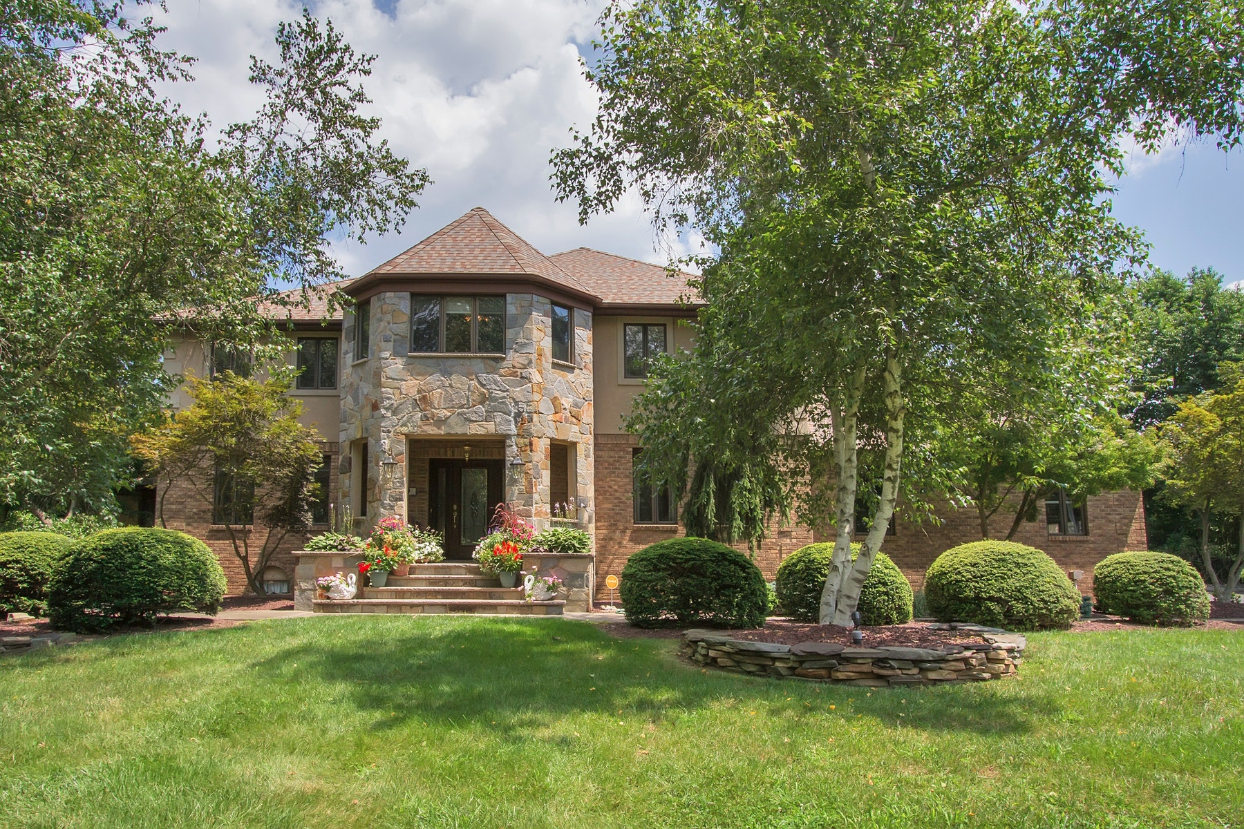 Single Family Home for Sale at Custom Built Private Oasis 5 Armand Court Holmdel, New Jersey 07733 United States