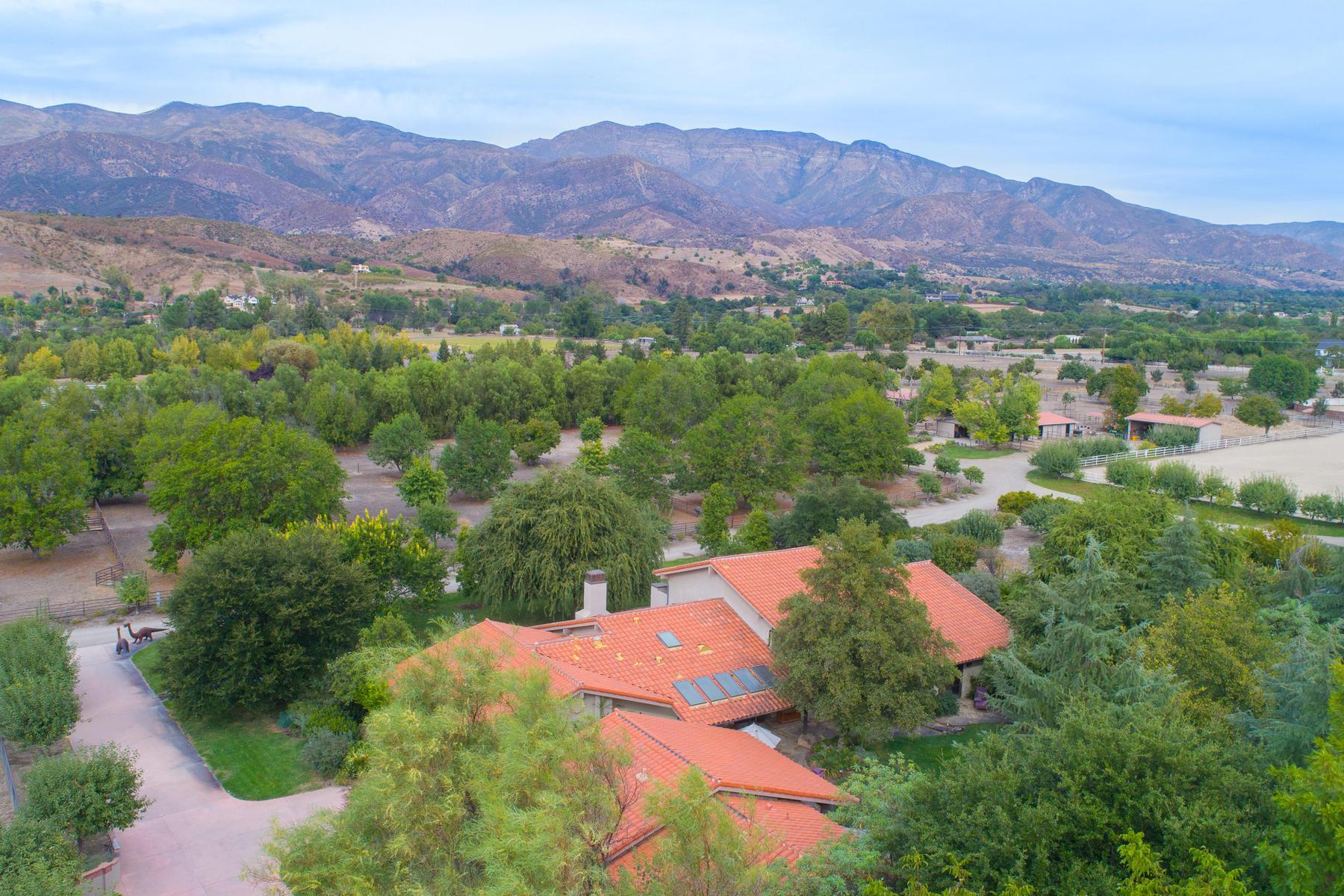 Single Family Homes para Venda às 12150 Mountain Lion Road, Ojai, Califórnia 93023 Estados Unidos