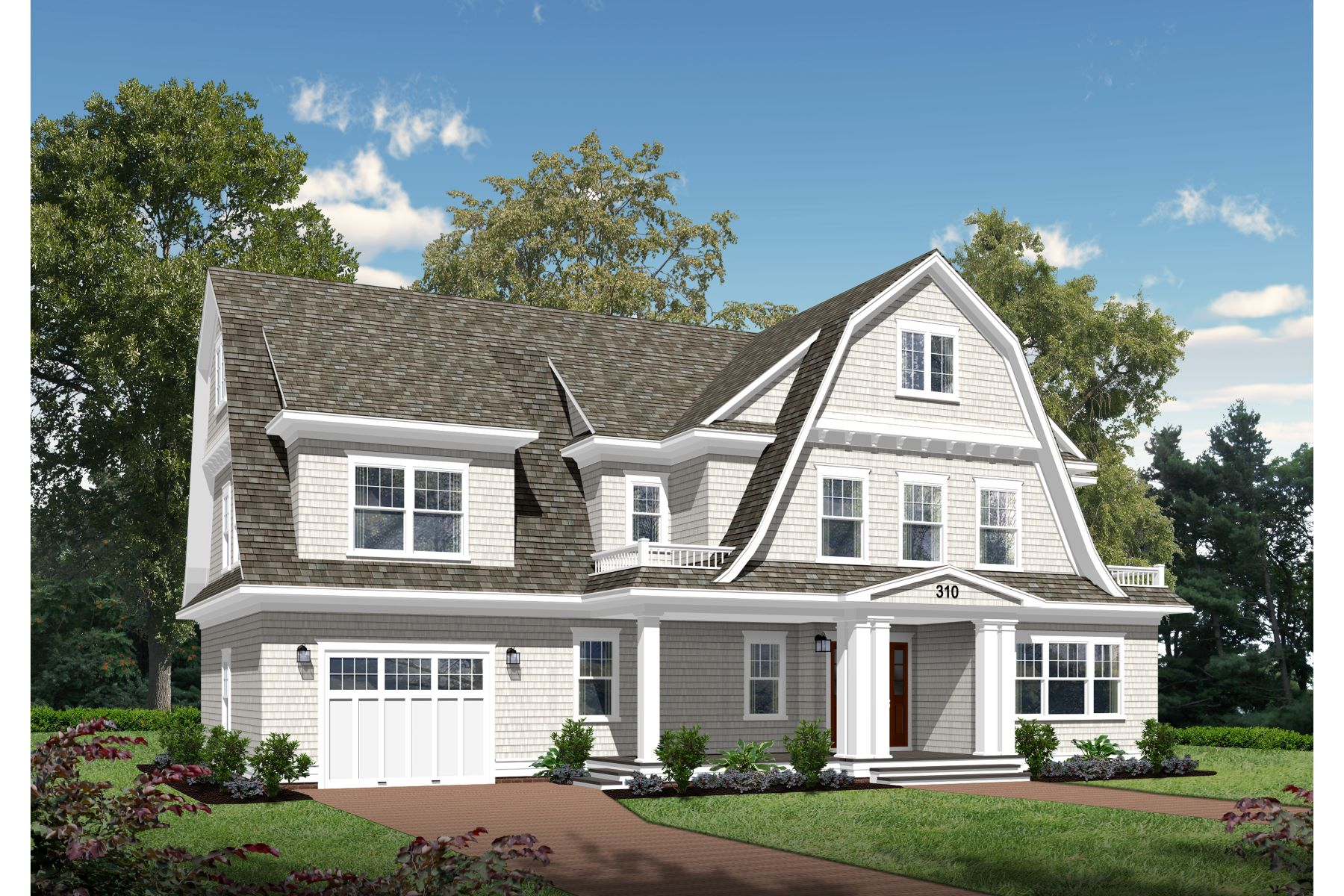 Moradia para Venda às Newly Constructed Shore Colonial 310 Beacon Blvd Sea Girt, Nova Jersey, 08750 Estados Unidos