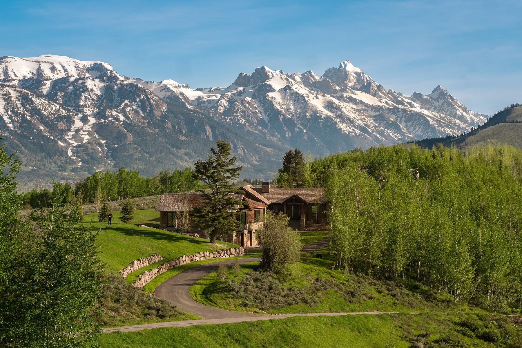 Single Family Homes pour l Vente à Top of the World in North Gros Ventre 1505 N Gannett Rd, Jackson, Wyoming 83002 États-Unis