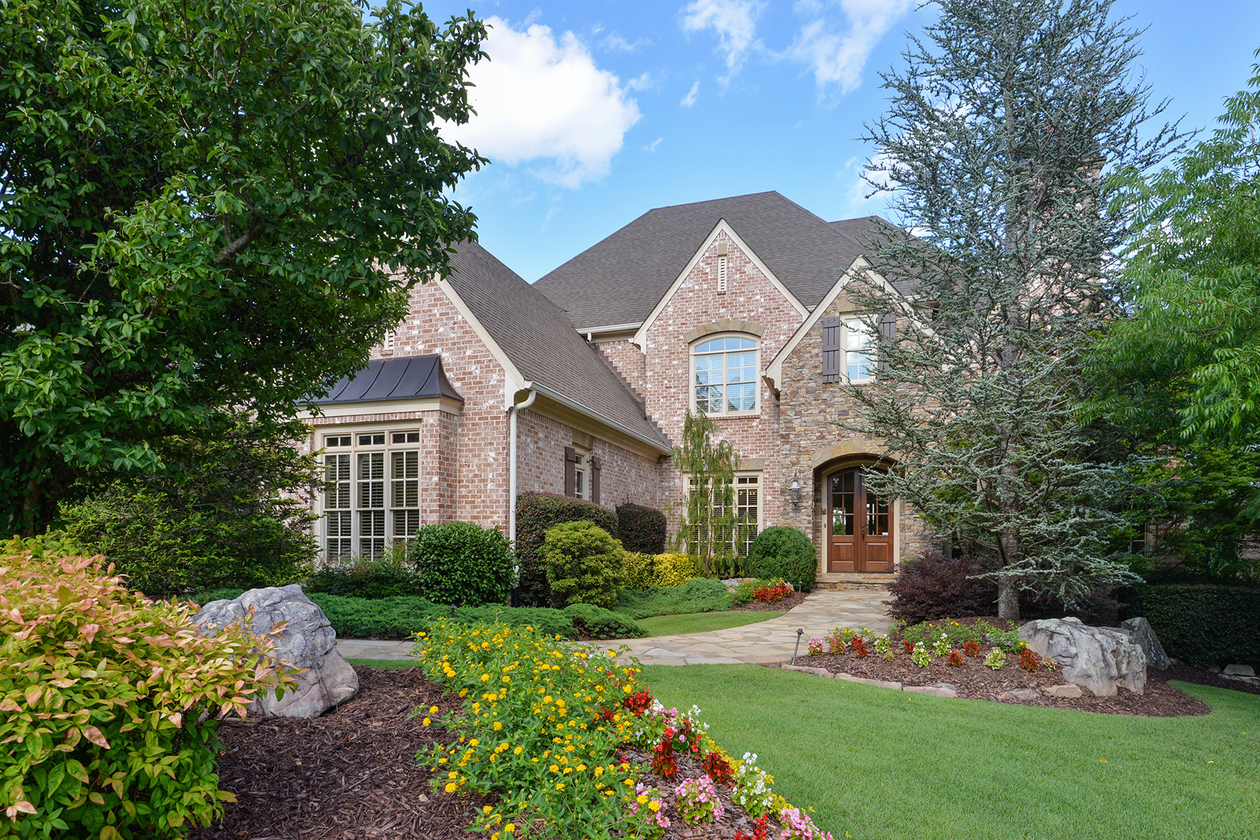 Single Family Homes for Active at Stunning Four-Sides Brick And Stone Executive Home 2210 Heathermoor Hill Drive Marietta, Georgia 30062 United States