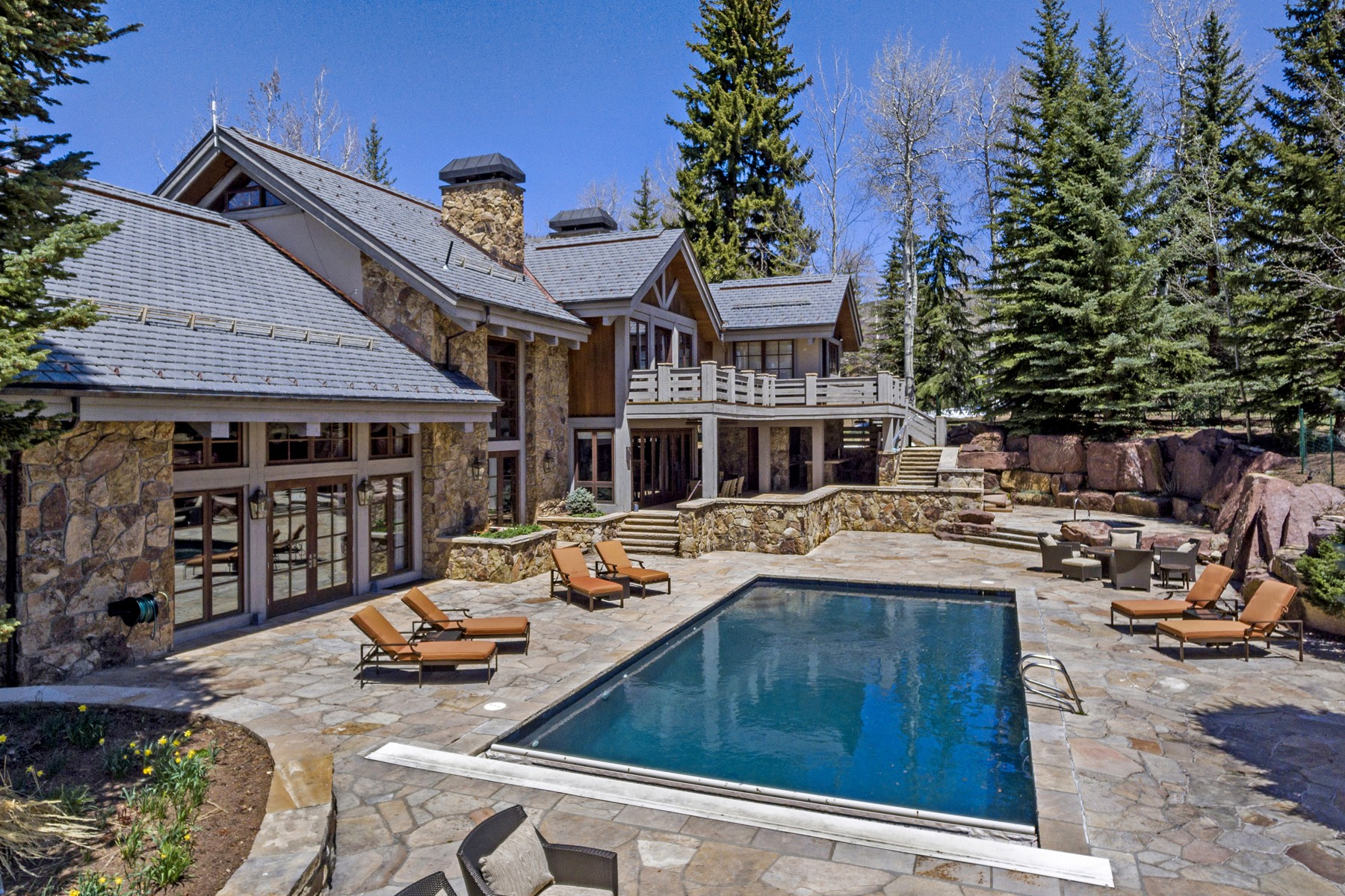 Single Family Homes for Sale at One of the Vail Valley's true estate homes offering spectacular outdoor living 18 Rose Crown Avon, Colorado 81620 United States