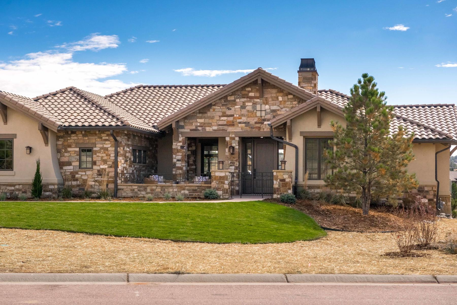 Single Family Home for Active at Pikes Peak view from this cozy lake front home! 7300 Prairie Star Ct Parker, Colorado 80134 United States