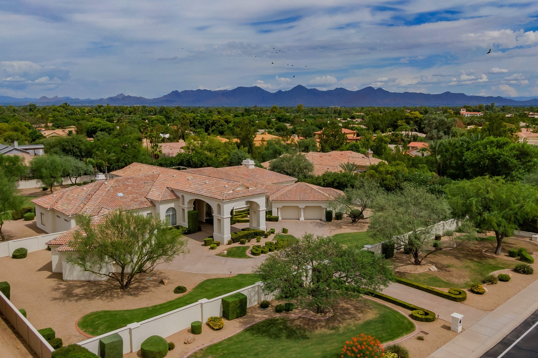 Property for Sale at French Museum Quality Paradise Valley Masterpiece 6900 E Cheney Drive, Paradise Valley, Arizona 85253 United States