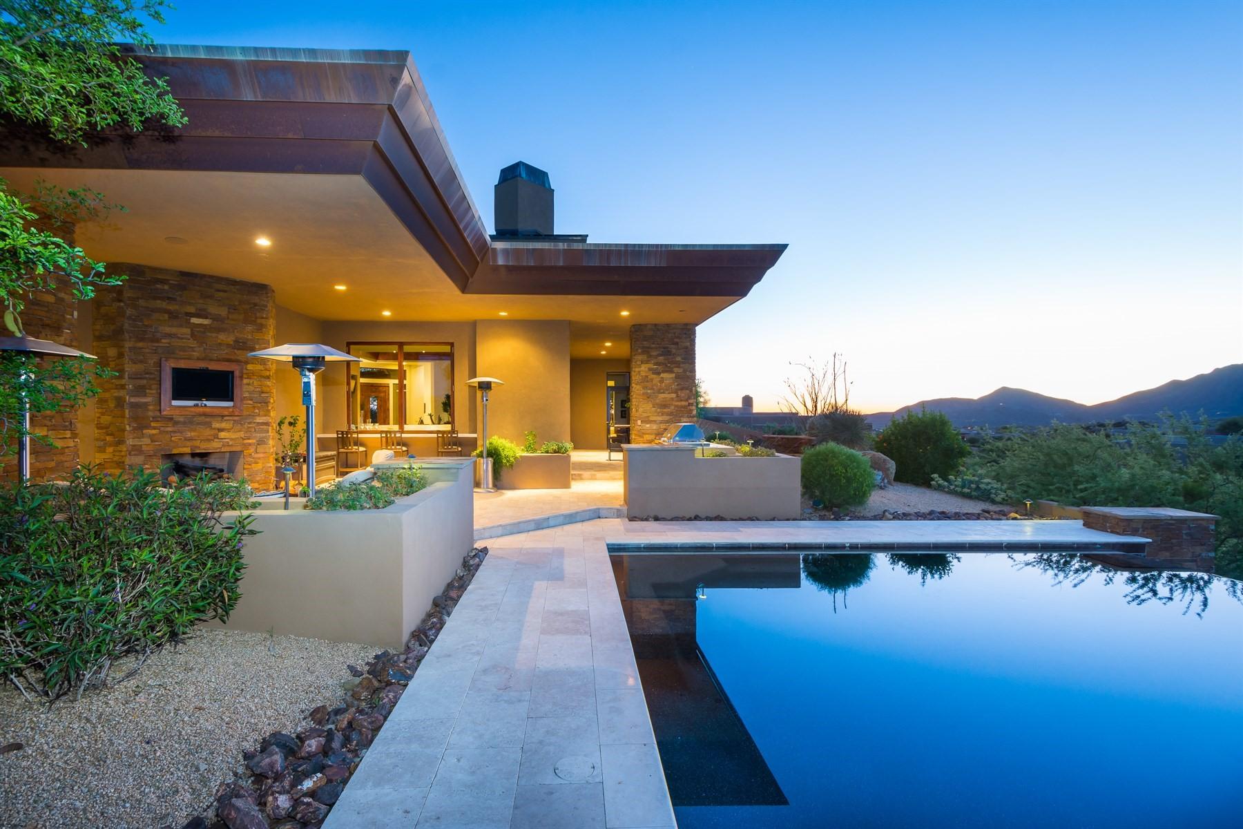 واحد منزل الأسرة للـ Sale في Hilltop soft contemporary home in Desert Mountain 41065 N 109th Pl, Scottsdale, Arizona, 85262 United States