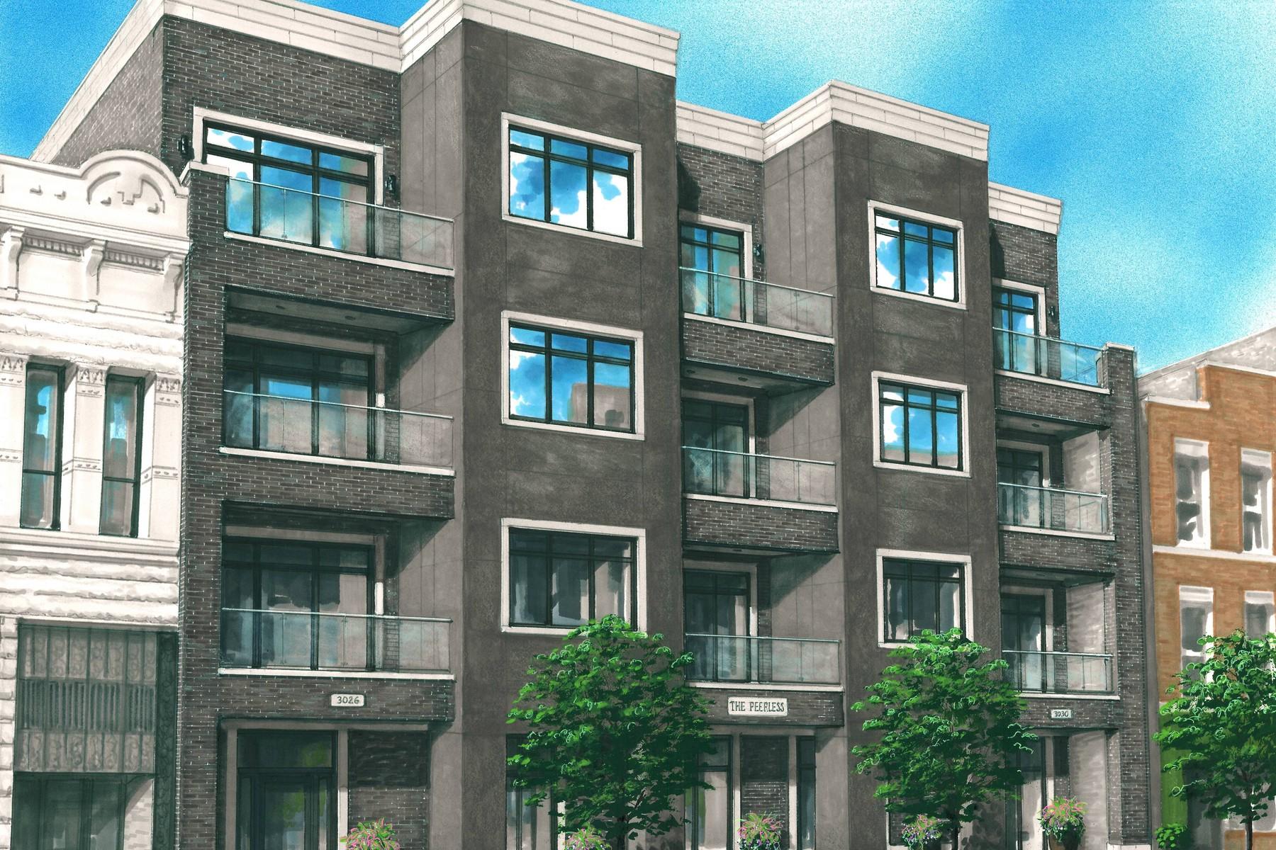 Condominium for Sale at Luxury New Construction Condo 3026 N Lincoln Avenue Unit 4C Chicago, Illinois, 60657 United States