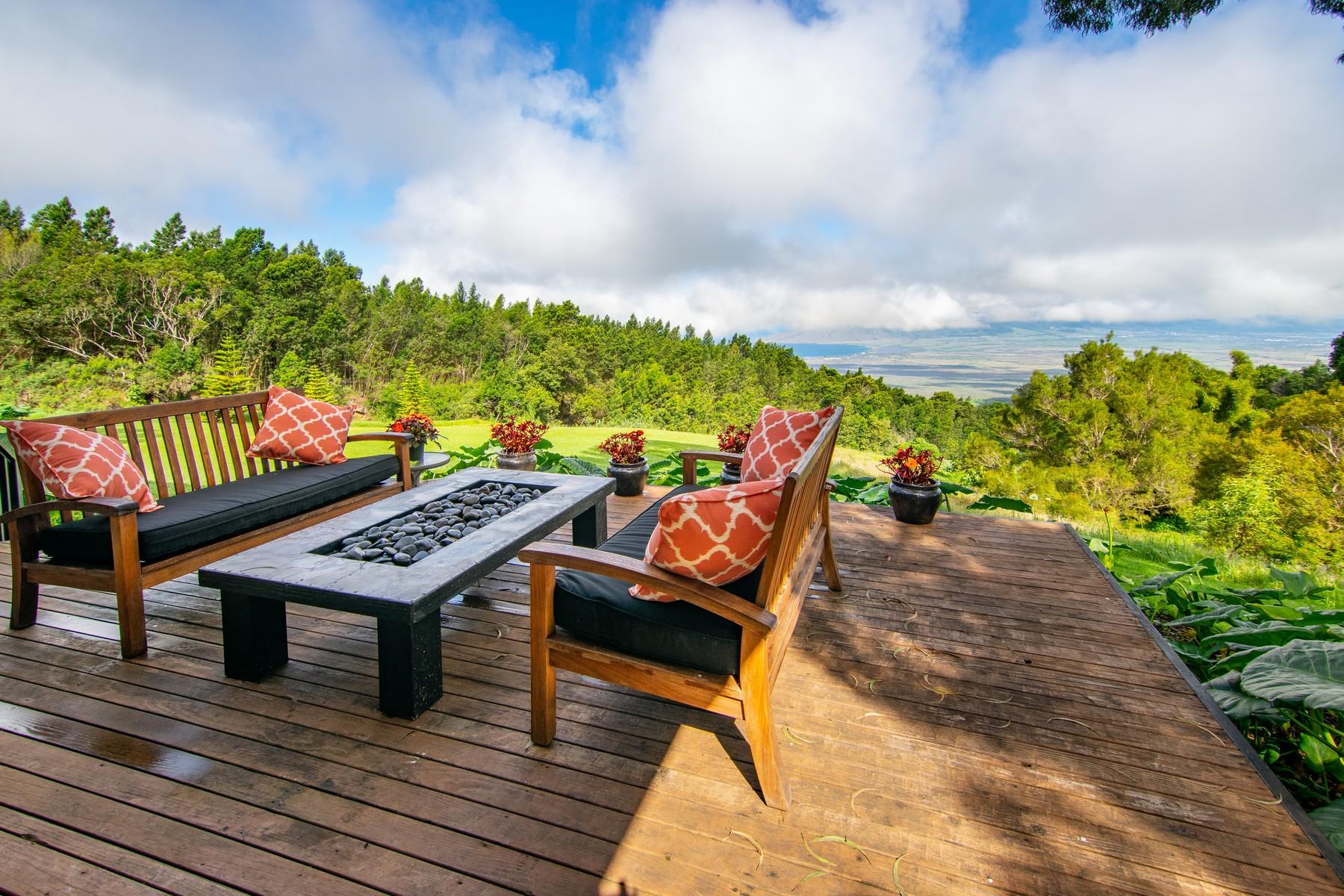 獨棟家庭住宅 為 出售 在 Spectacular Kula View Estate 106 & 112 Kawehi Rd Kula, 夏威夷 96790 美國