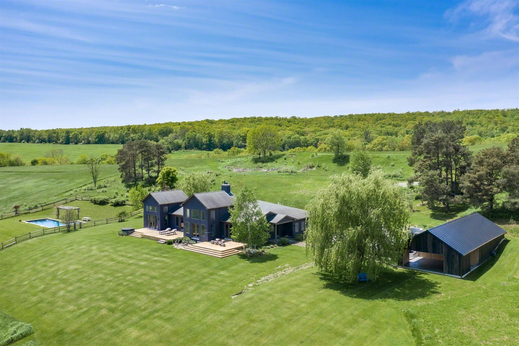 Single Family Homes for Sale at Big Sky Contemporary 23 Old Gordon Farm Rd Ancram, New York 12502 United States