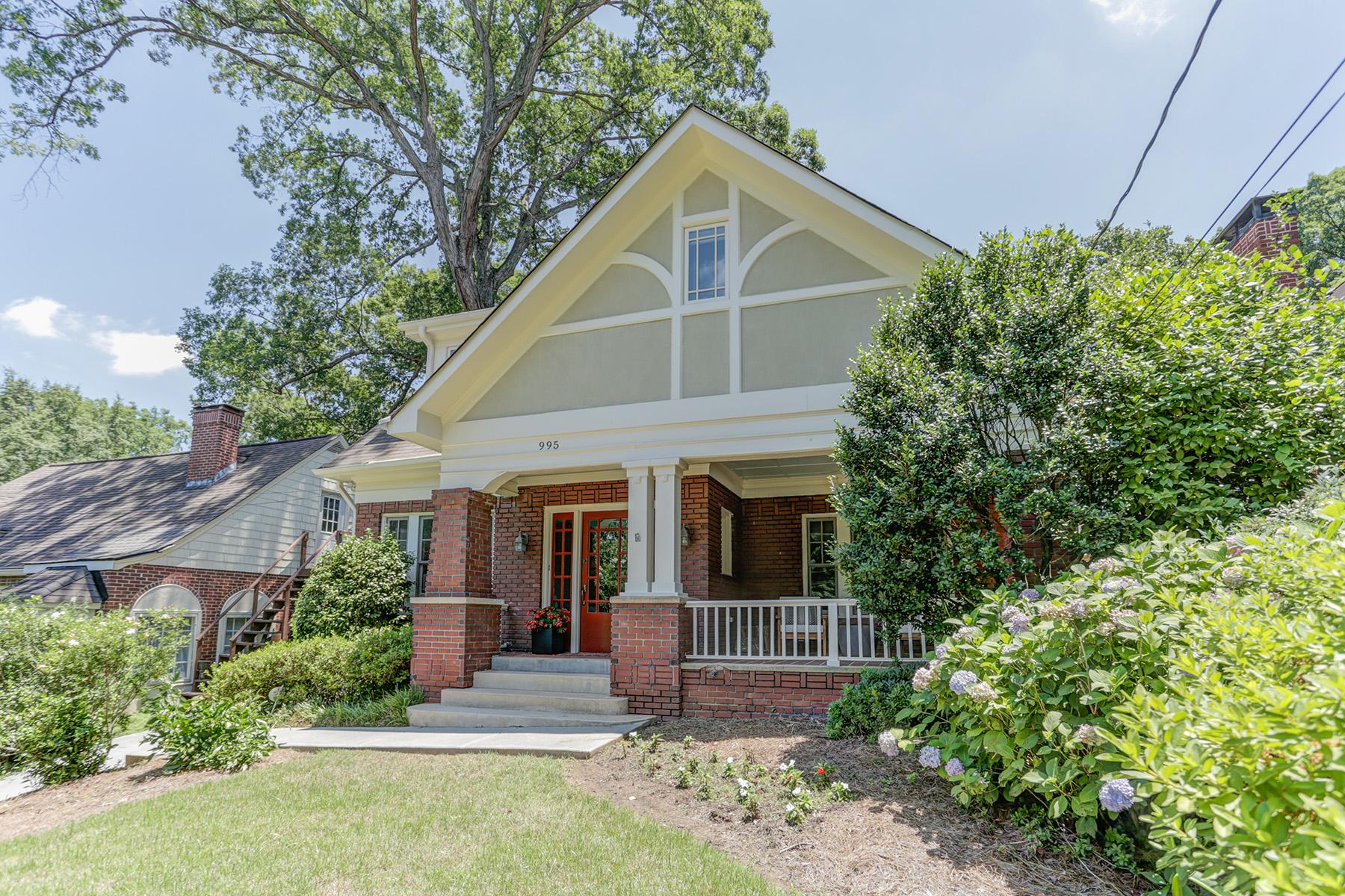 Single Family Homes для того Продажа на Lovingly Renovated In Virginia Highland 995 Rosedale Road NE, Atlanta, Джорджия 30306 Соединенные Штаты