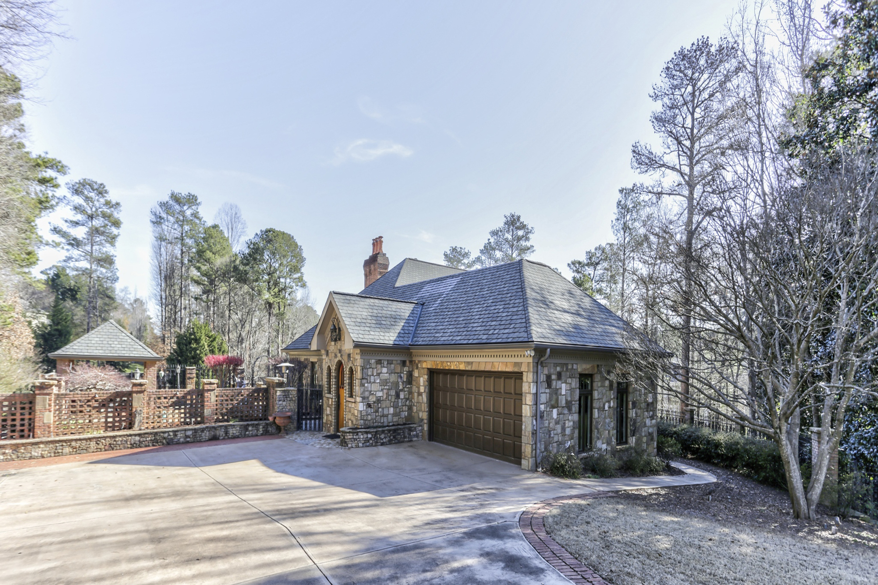 Single Family Home for Sale at Custom Private Oasis In Vinings On One Acre With Pool 3883 Fairfax Court SE Atlanta, Georgia 30339 United States