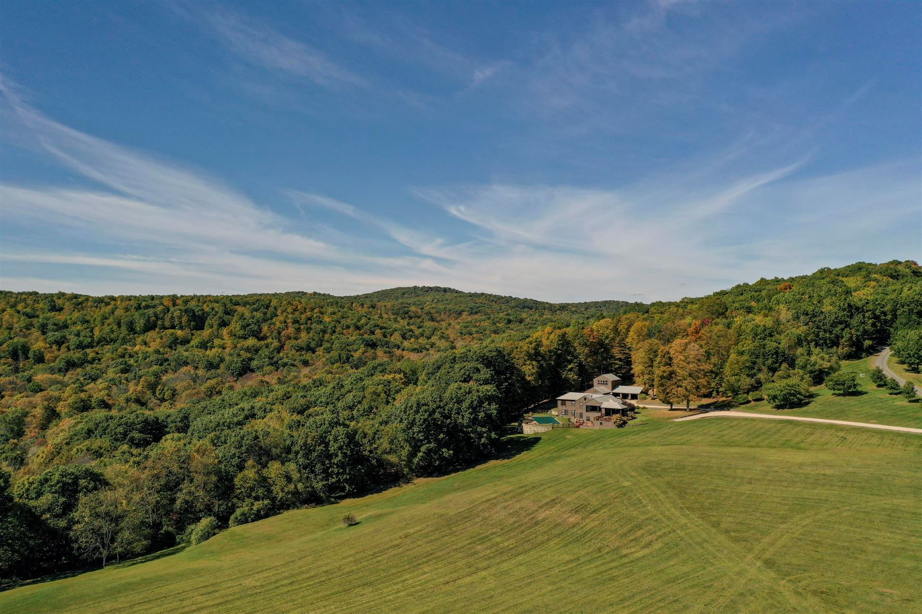 Single Family Homes for Sale at Distant Views 35 Old Gordon Farm Road Ancram, New York 12502 United States