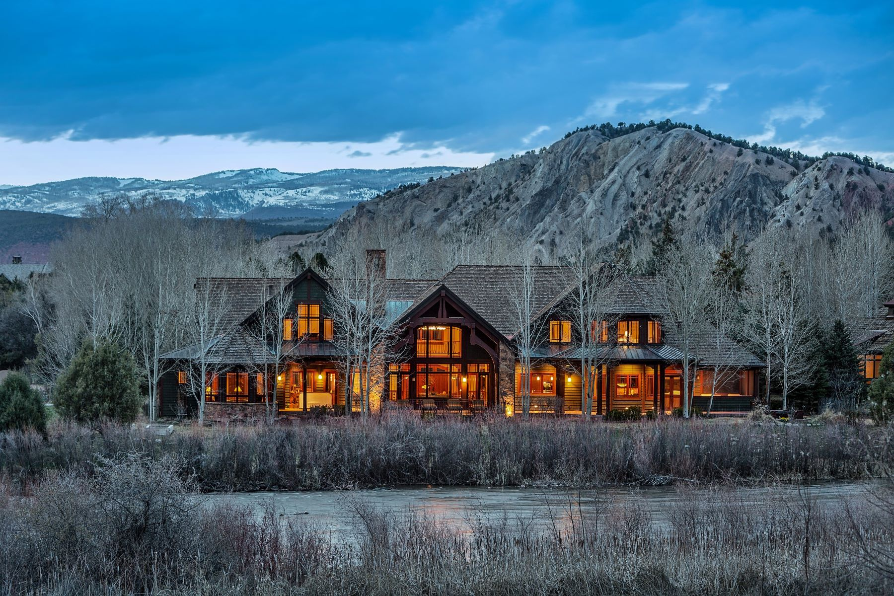 Single Family Homes 为 销售 在 River Frontage & Sopris Views in Aspen Glen 340 River's Bend 卡本代尔, 科罗拉多州 81623 美国
