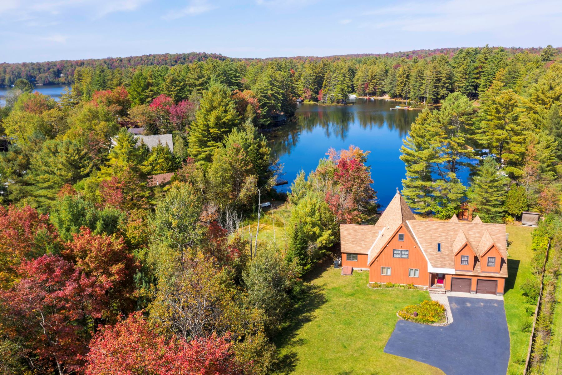 Single Family Homes for Active at Luxury Lakefront on the Sandy Shores of White Lake 12771 NYS Rt. 28 Woodgate, New York 13494 United States