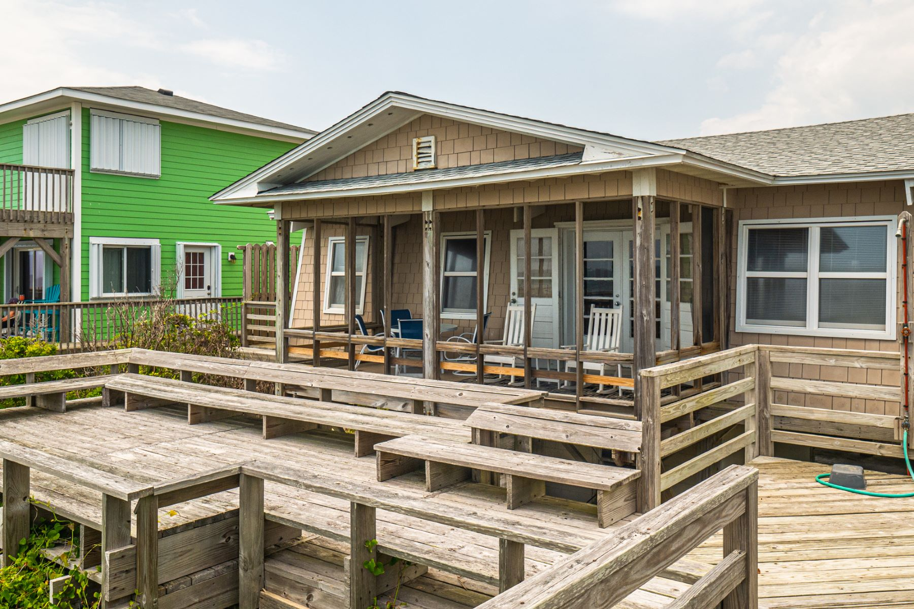 Single Family Homes for Active at Classic Oceanfront Cottage 1159 N Anderson Boulevard Topsail Beach, North Carolina 28445 United States