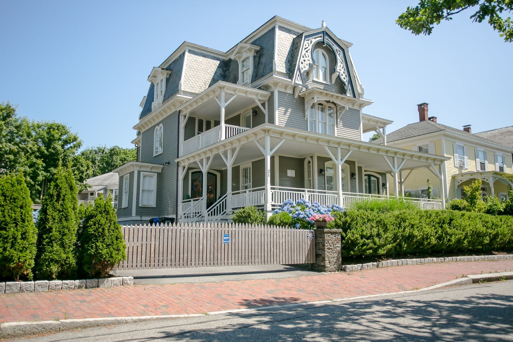 Single Family Homes for Sale at Renovated Historic Hill Victorian 21 Kay Street Newport, Rhode Island 02840 United States