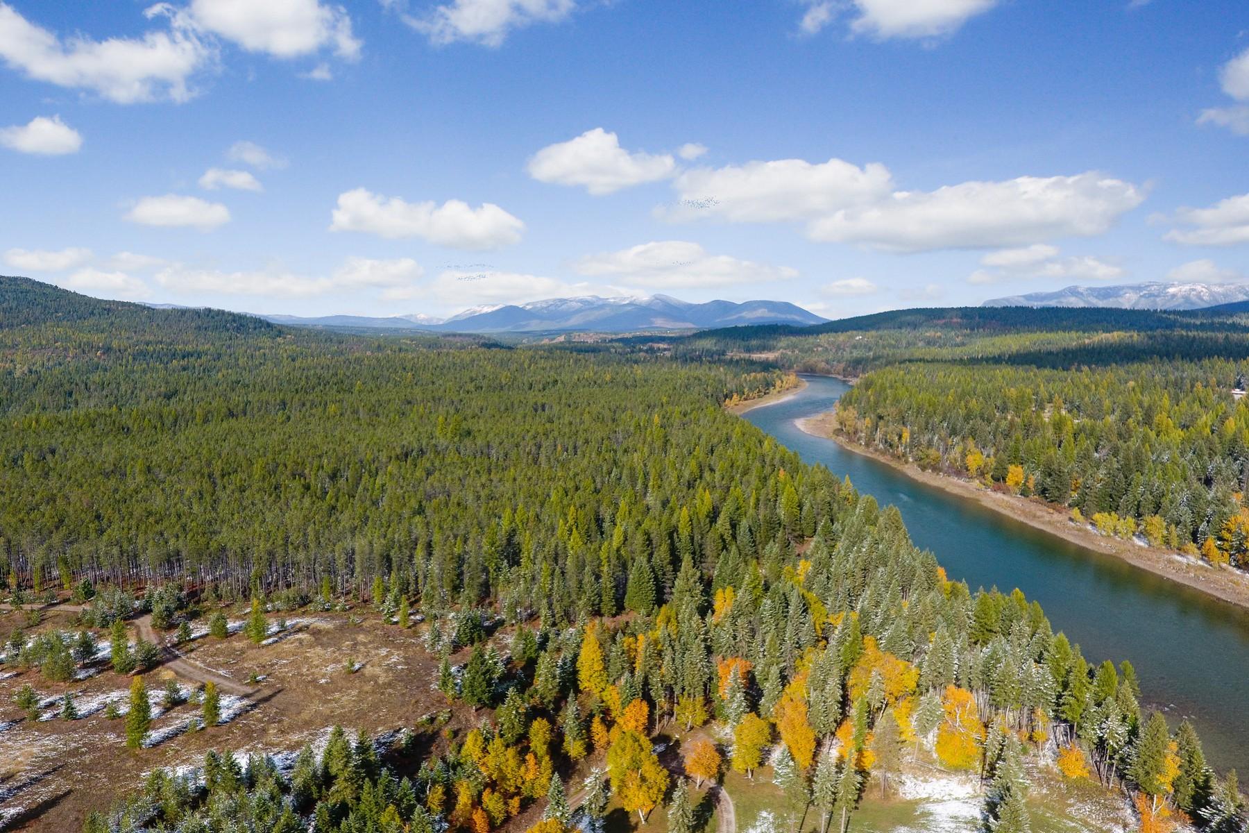 Land voor Verkoop op Gated Flathead River Ranch Acreage 1451 Lake Meadow Way, Columbia Falls, Montana 59912 Verenigde Staten