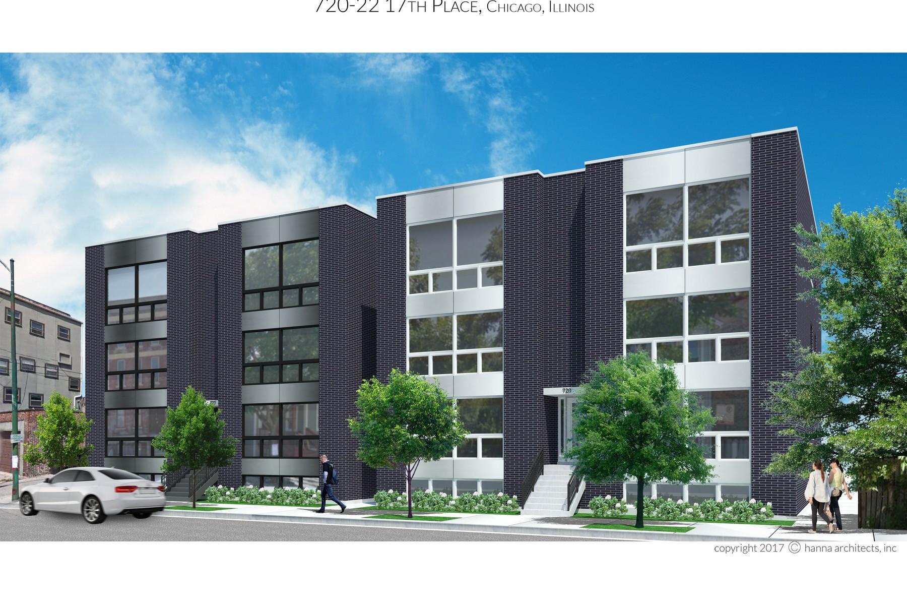 Кондоминиум для того Продажа на New Construction Six-Unit Building 722 W 17th Place West Unit 3E, Chicago, Иллинойс, 60616 Соединенные Штаты