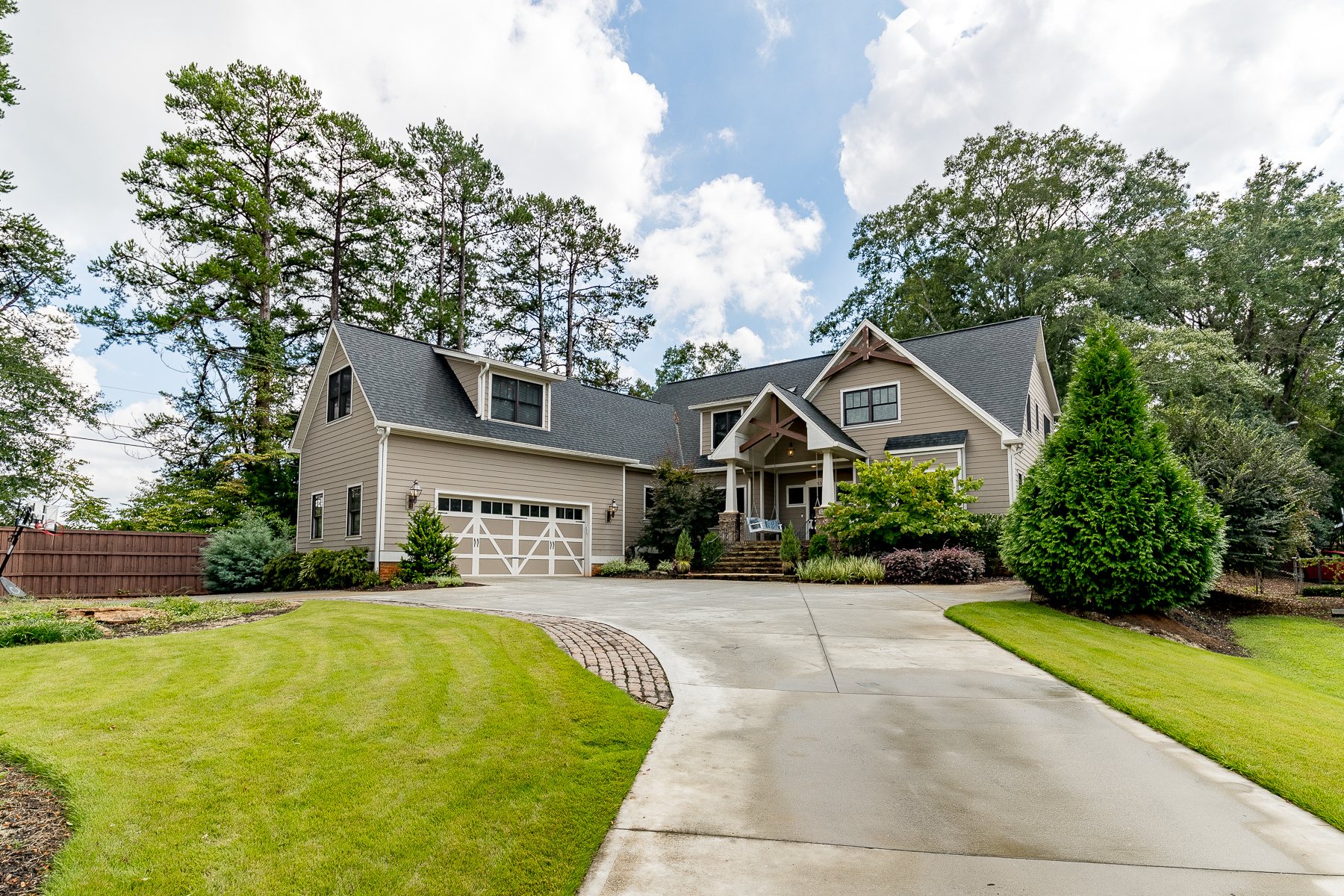 Single Family Homes for Sale at Custom Built Cleveland Forest Home 53 Partridge Lane Greenville, South Carolina 29601 United States