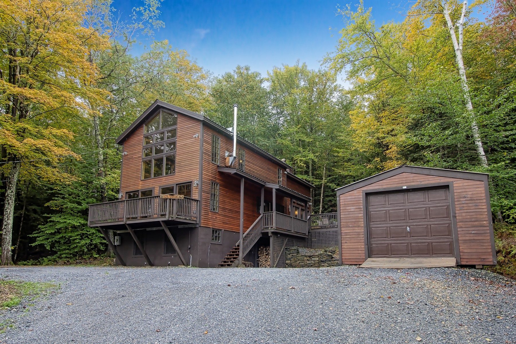 Single Family Home for Sale at Serene Contemporary Home 10 Ives Rd Wilmington, Vermont 05363 United States