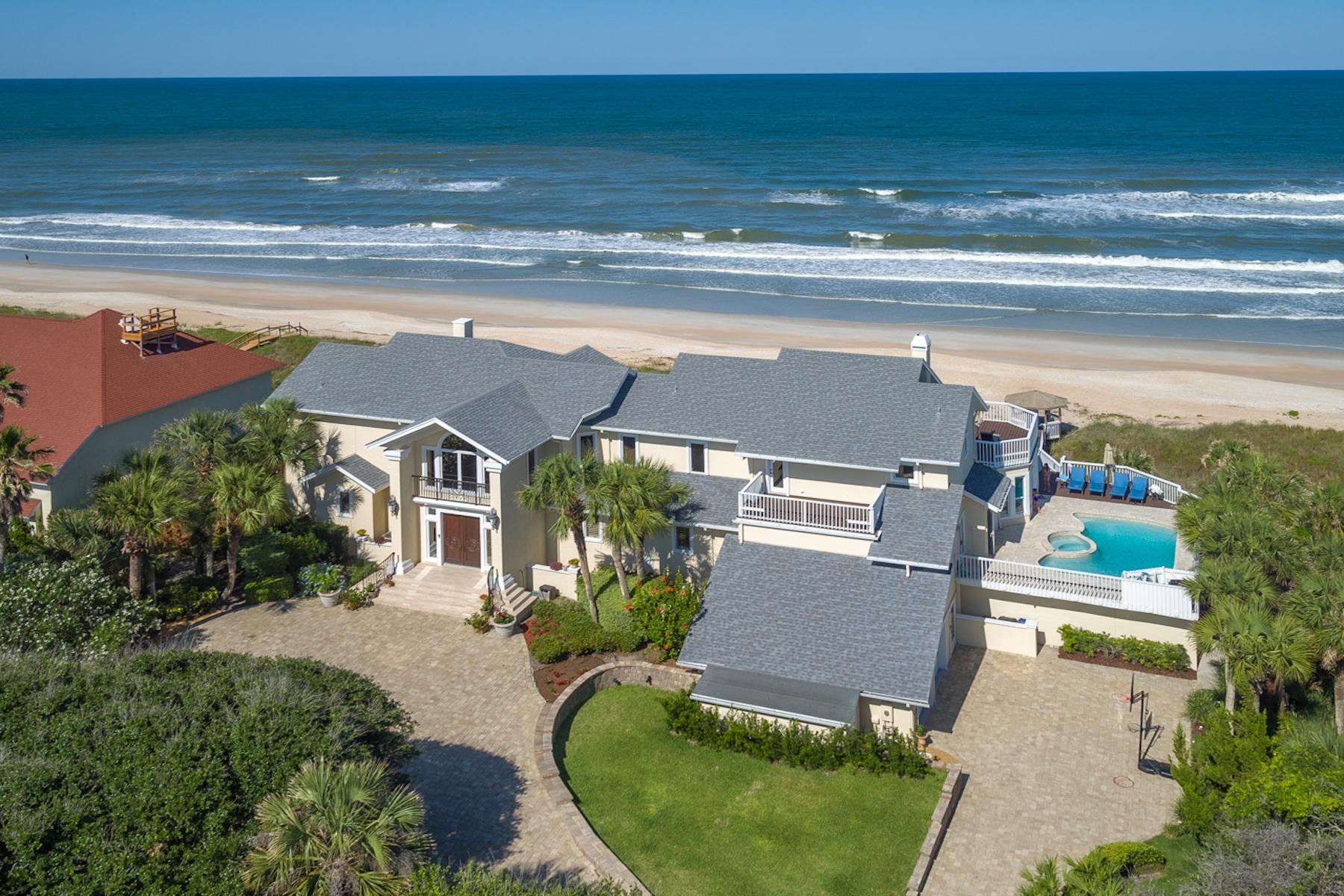Single Family Homes por un Venta en Oceanfront Private Estate 1407 Ponte Vedra Boulevard Ponte Vedra Beach, Florida 32082 Estados Unidos