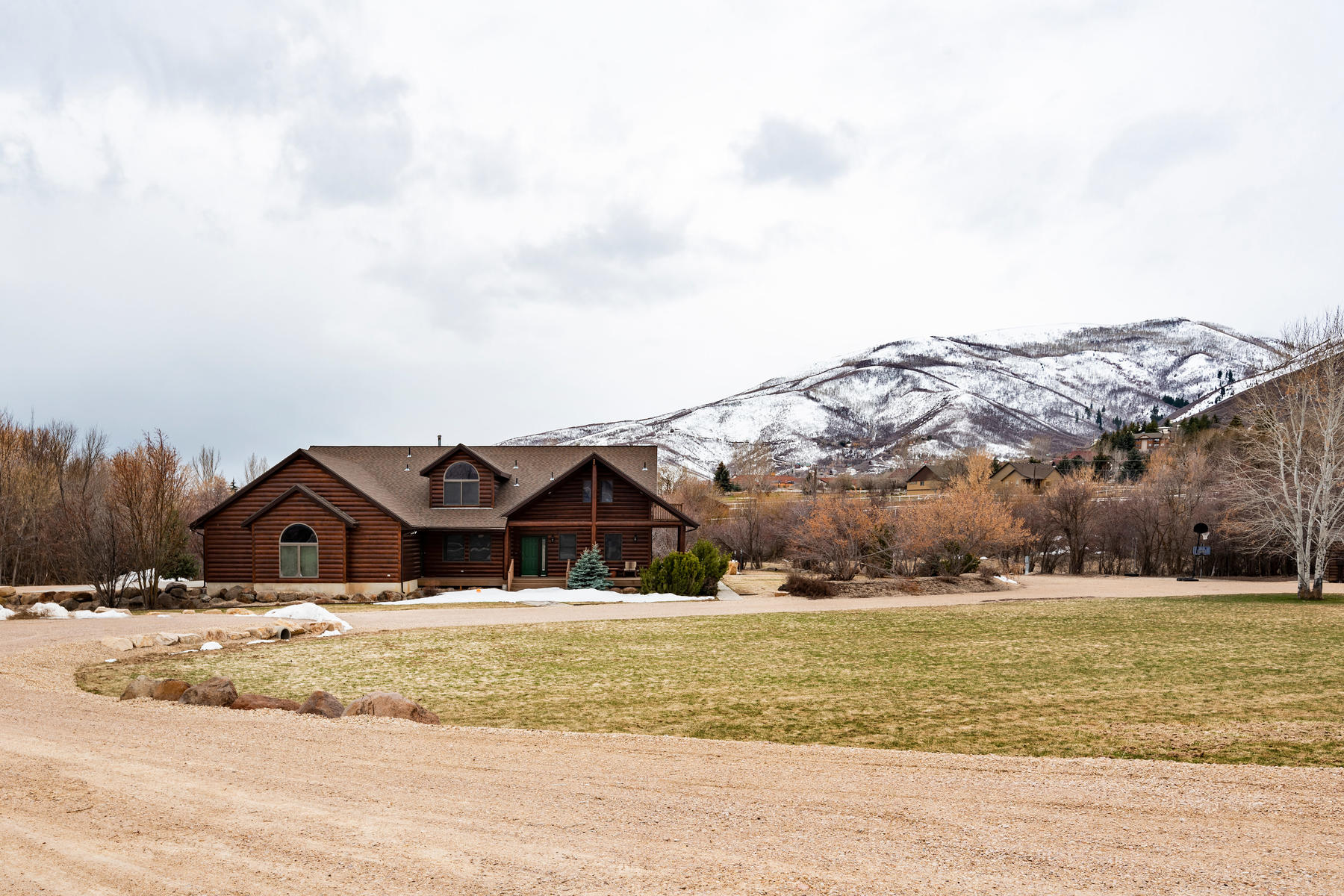 Single Family Homes for Sale at Custom Log Home on 2.19 Acres 535 Cari Lane, Midway, Utah 84049 United States