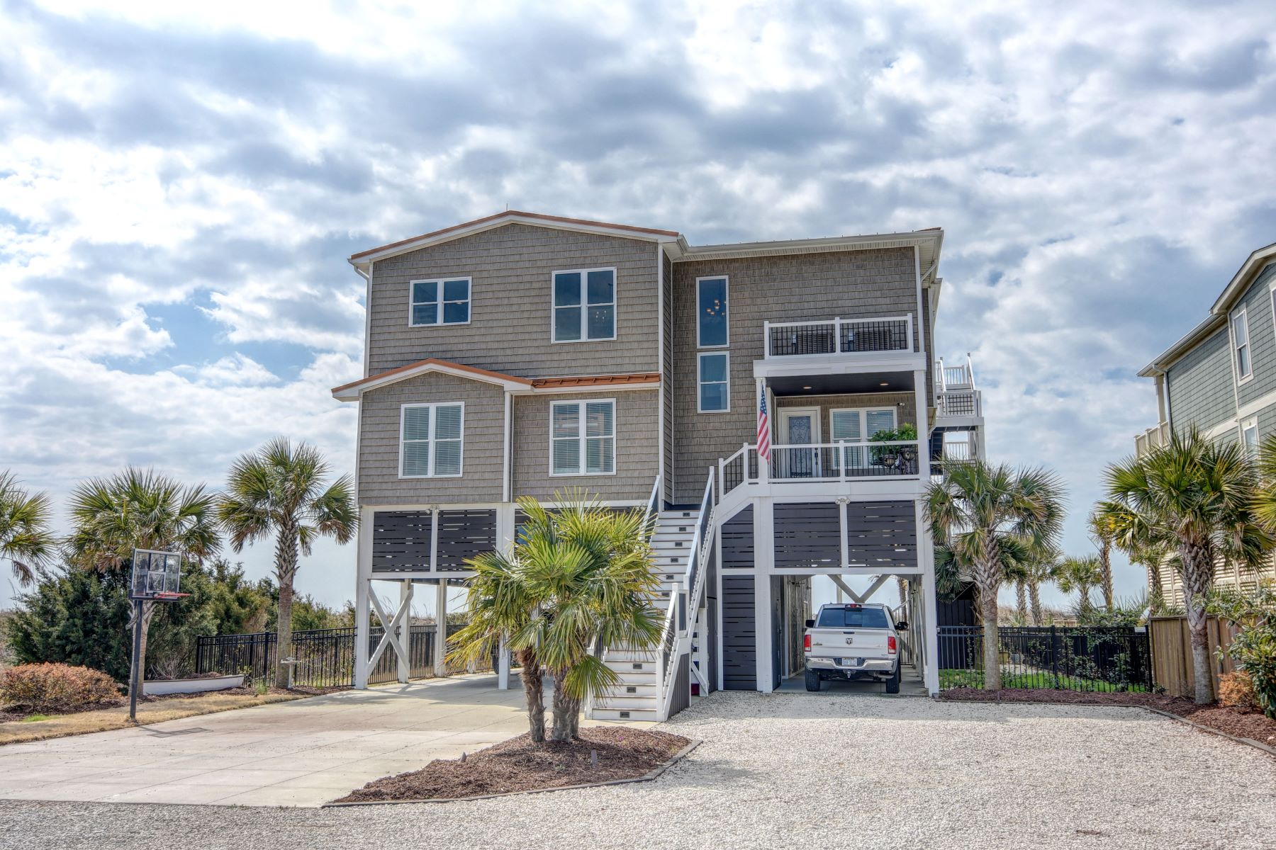 Single Family Home for Sale at Oceanfront Perfect Serenity In Gated Community 1353 Ocean Boulevard W Holden Beach, North Carolina 28462 United States
