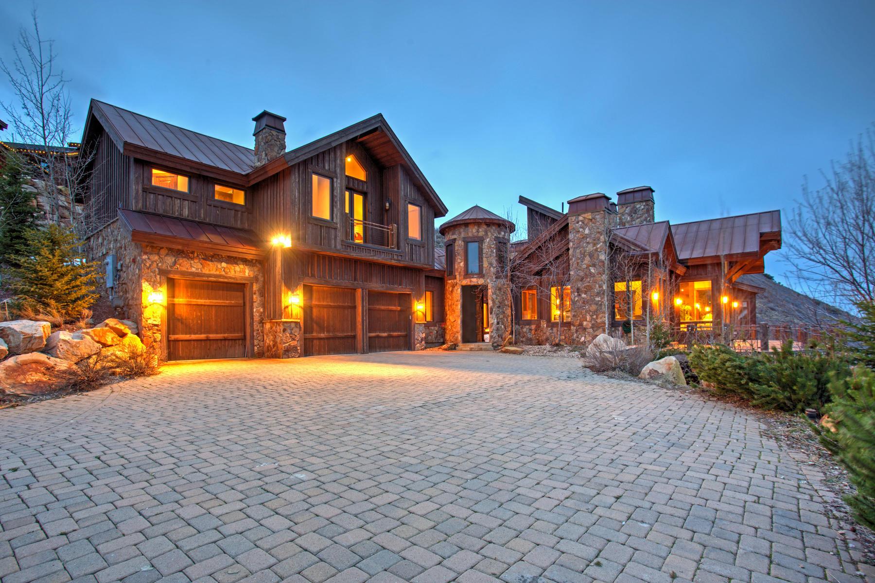 Villa per Vendita alle ore Panoramic View Home In Snow Top at Deer Crest 11362 N Snowtop Rd Park City, Utah, 84060 Stati Uniti