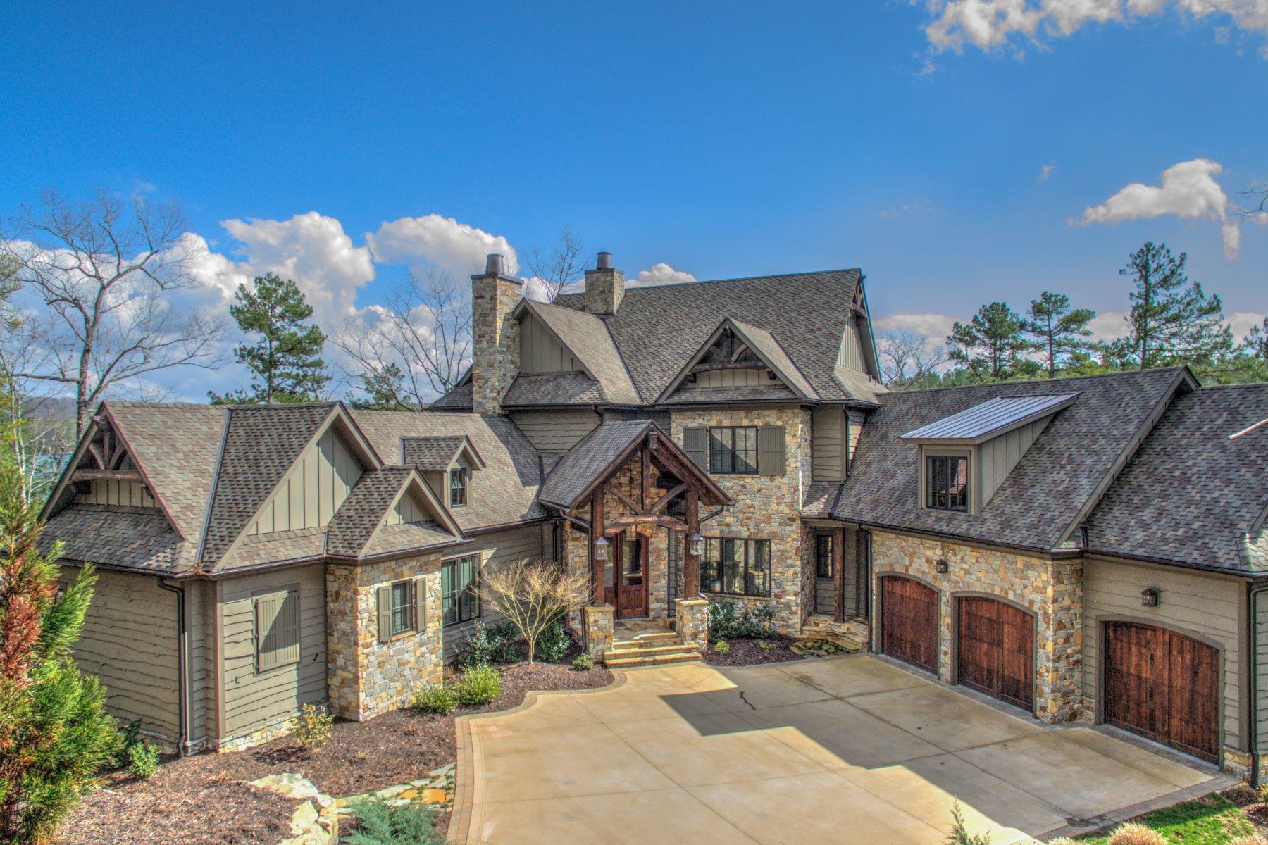 واحد منزل الأسرة للـ Sale في Uncompromising Lake Front Home 678 Lake Breeze Lane, The Cliffs At Keowee Falls, Salem, South Carolina, 29676 United States