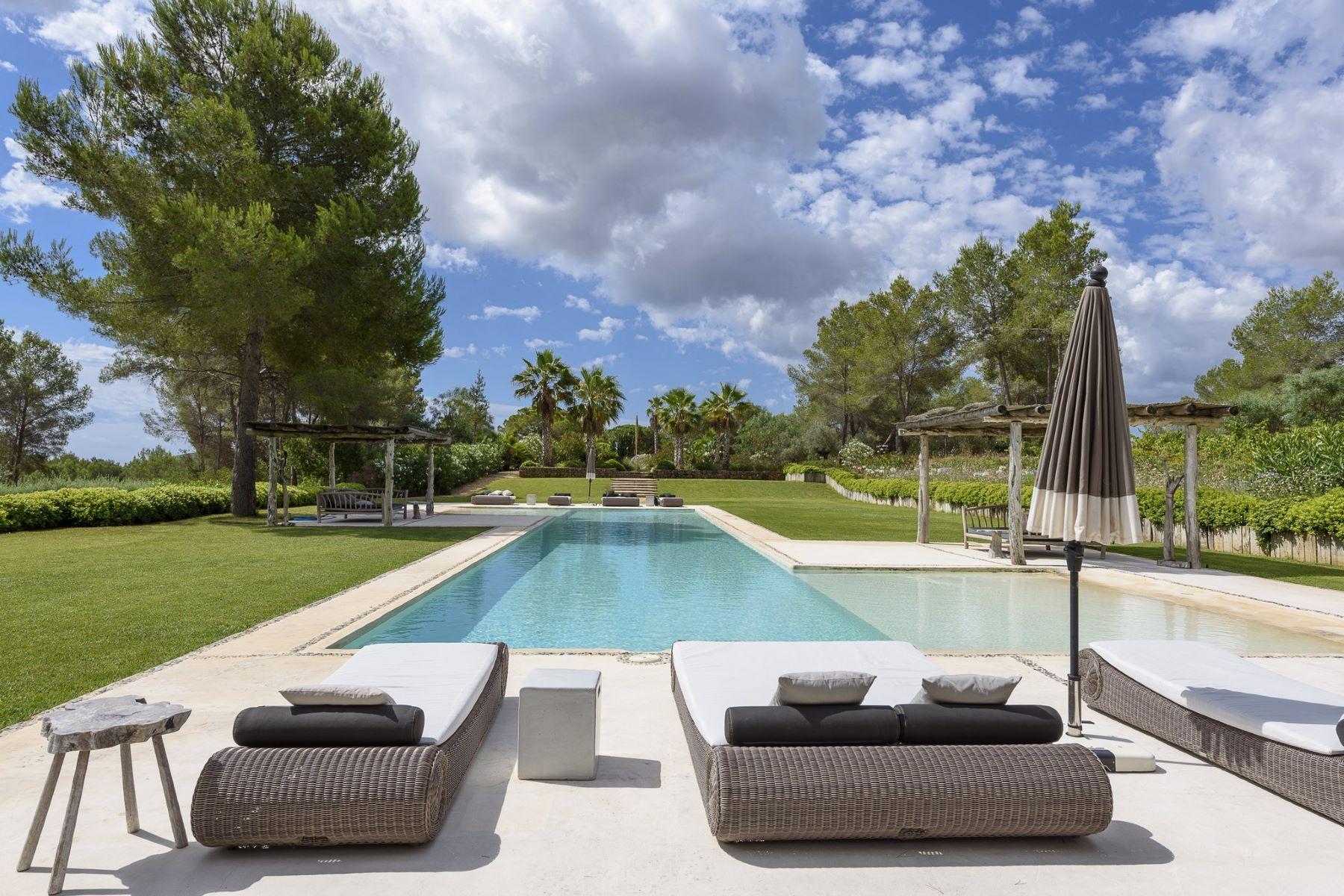 Single Family Home for Sale at Distinctive Ibizan Style 4 Homes, 3 Pools & Absolute Privacy near Santa Eulalia Ibiza, Balearic Islands Spain