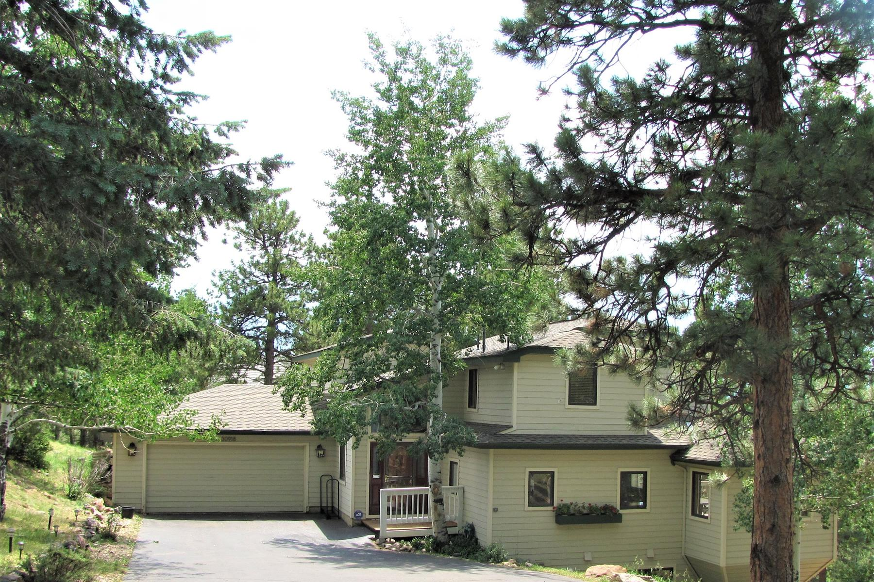 Частный односемейный дом для того Продажа на South Facing with Towering Mountain Views 30918 Idlewild Lane Evergreen, Колорадо, 80439 Соединенные Штаты