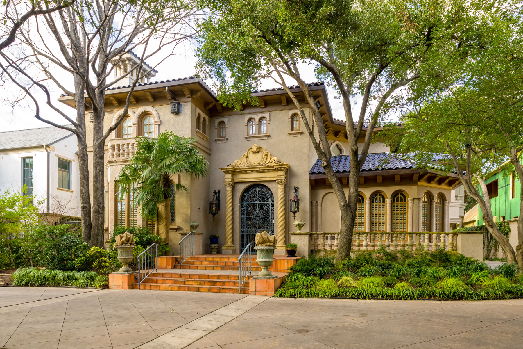 Single Family Homes for Sale at Highland Park Spanish Mediterranean Home 4332 Lorraine Avenue Highland Park, Texas 75205 United States