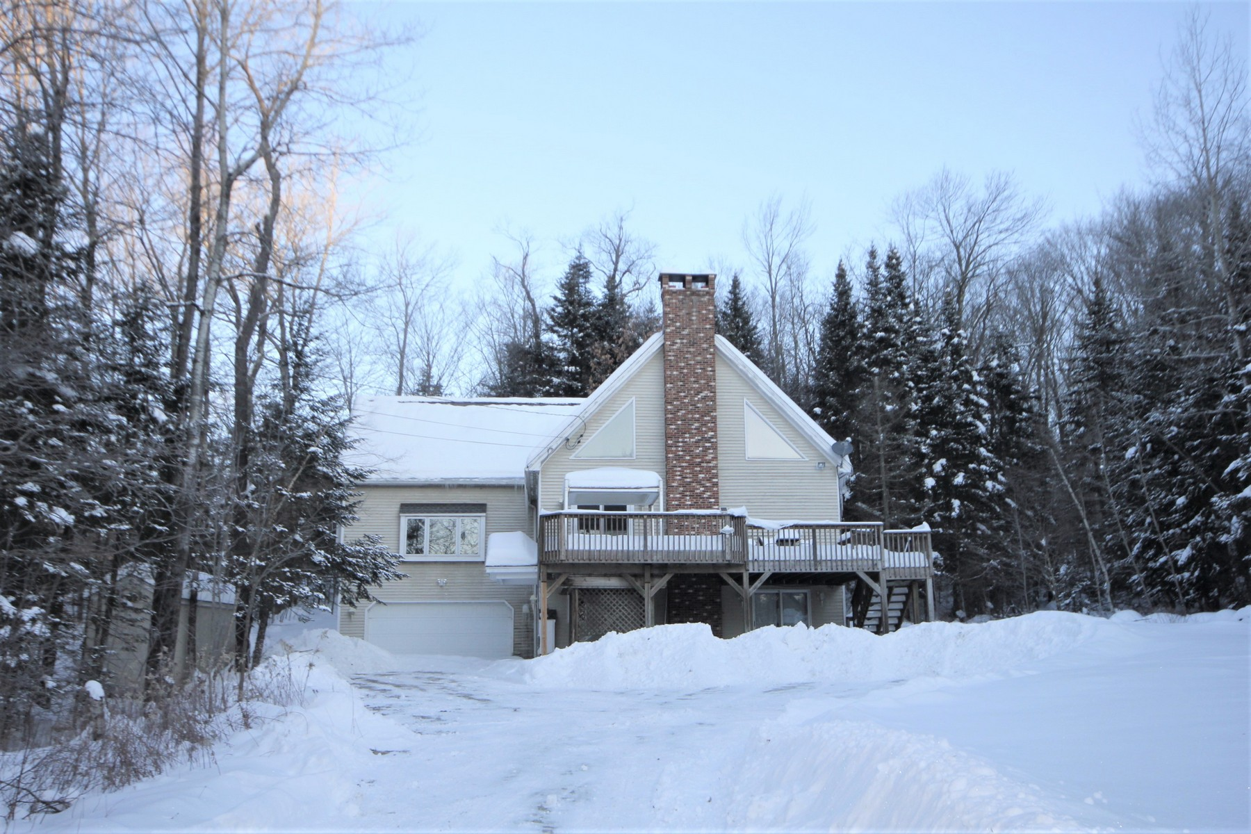 Single Family Homes for Sale at Direct Snowmobile Access 24 Blue Brook Road Dover, Vermont 05356 United States