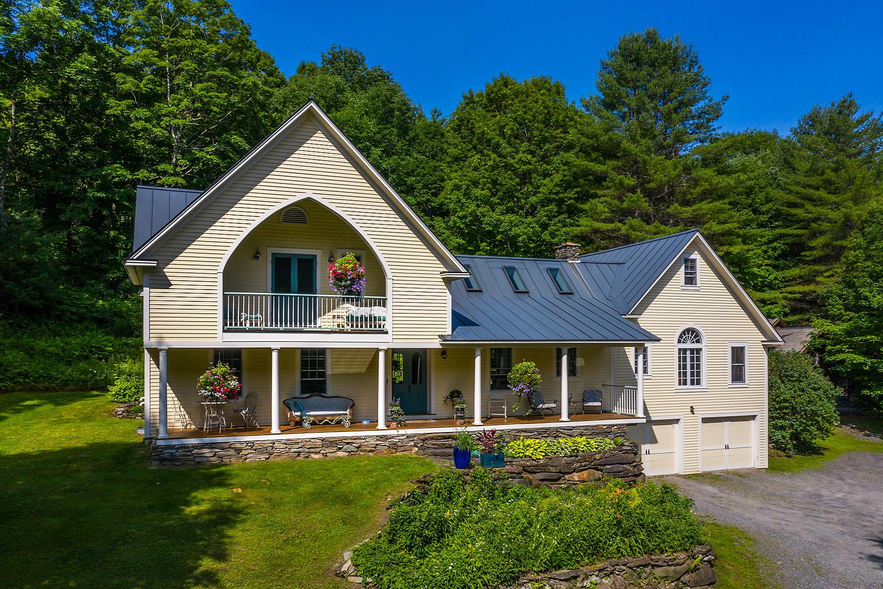 Single Family Homes for Sale at Custom Home on 48 Acres + Pond 1799 Pomfret Road South Pomfret, Vermont 05067 United States