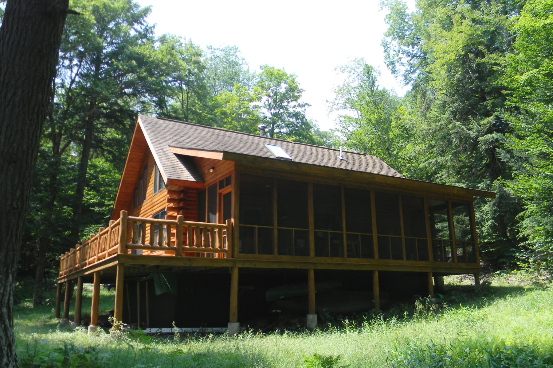 Single Family Home for Sale at Personal Sanctuary with Cedar Log Home and Private Lake 162 Farr Rd. Remsen, New York 13438 United States