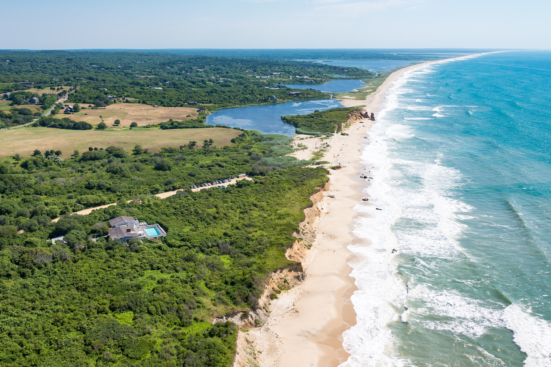 Single Family Homes for Sale at Oceanfront home with swimming pool in Chilmark 1 Azalea Lane Chilmark, Massachusetts 02535 United States