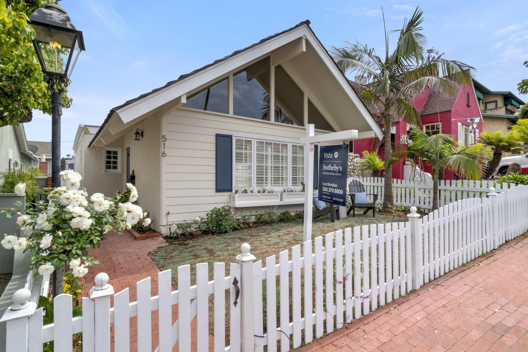 Maison unifamiliale pour l Vente à 516 Marine Av, Manhattan Beach 90266 516 Marine Ave Manhattan Beach, Californie, 90266 États-Unis