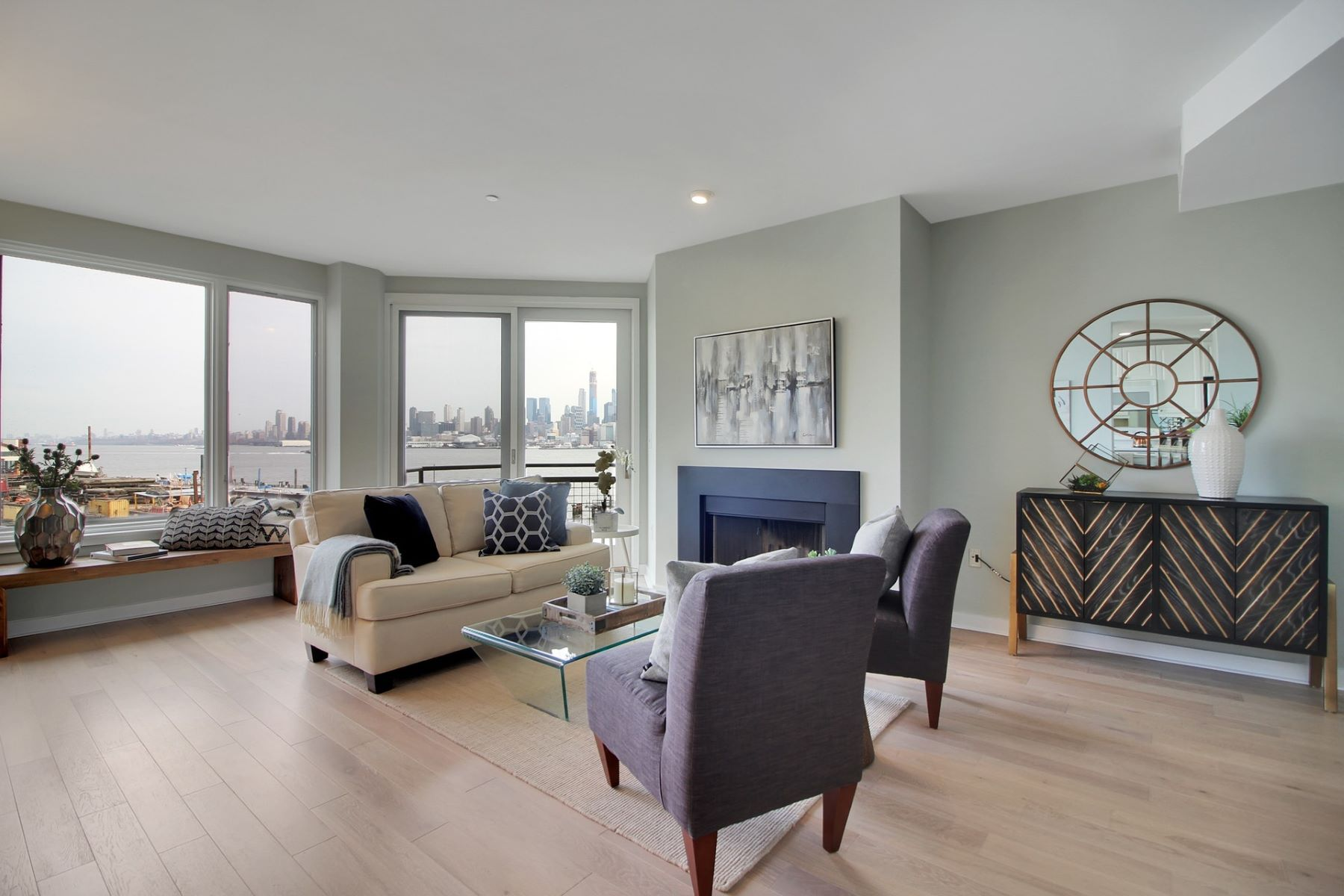 Condominium for Sale at Discover luxury watefront living in this North facing 1BD/1BA home. 600 Harbor Blvd #965, Weehawken, New Jersey 07086 United States