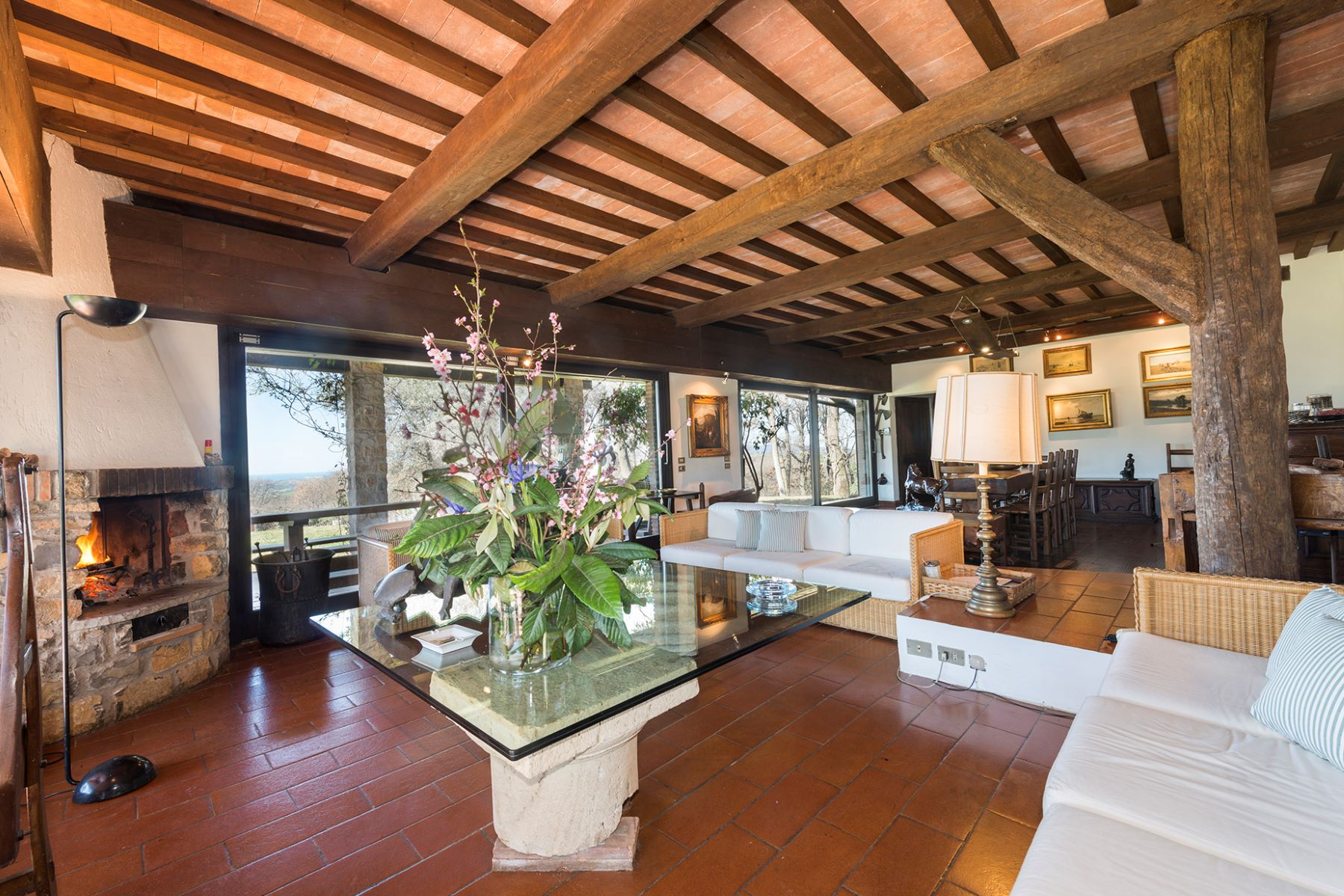 Single Family Home for Sale at Beautiful villa with breath taking sea vistas of Monte Argentario Strada La Capitana Magliano In Toscana, 58051 Italy